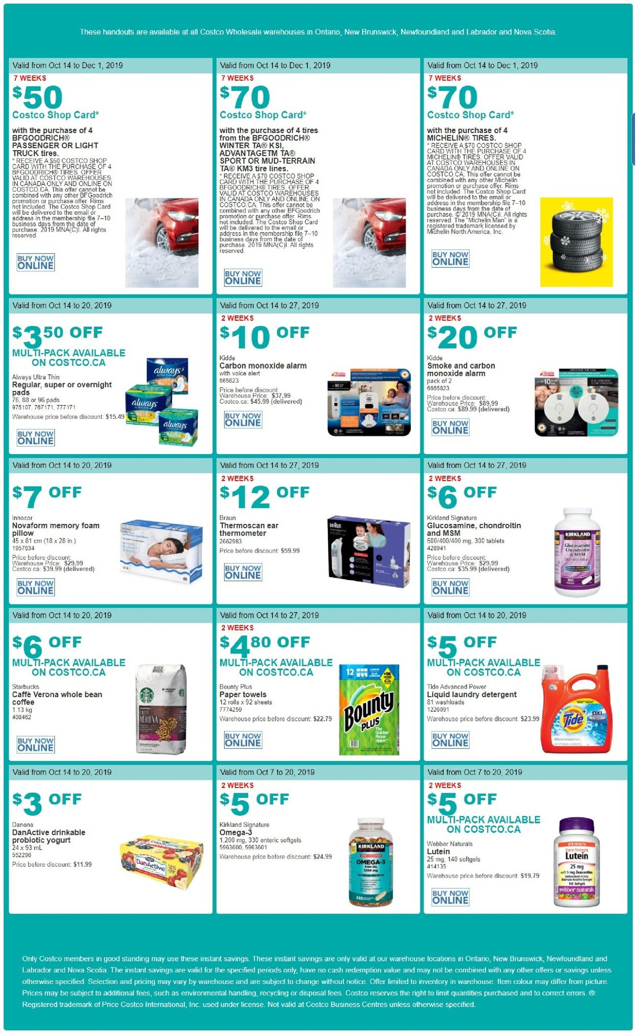 Costco Flyer - 10/14-10/20/2019