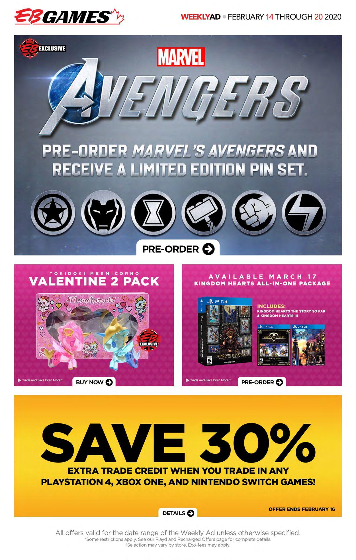 EB Games Flyer - 02/14-02/20/2020