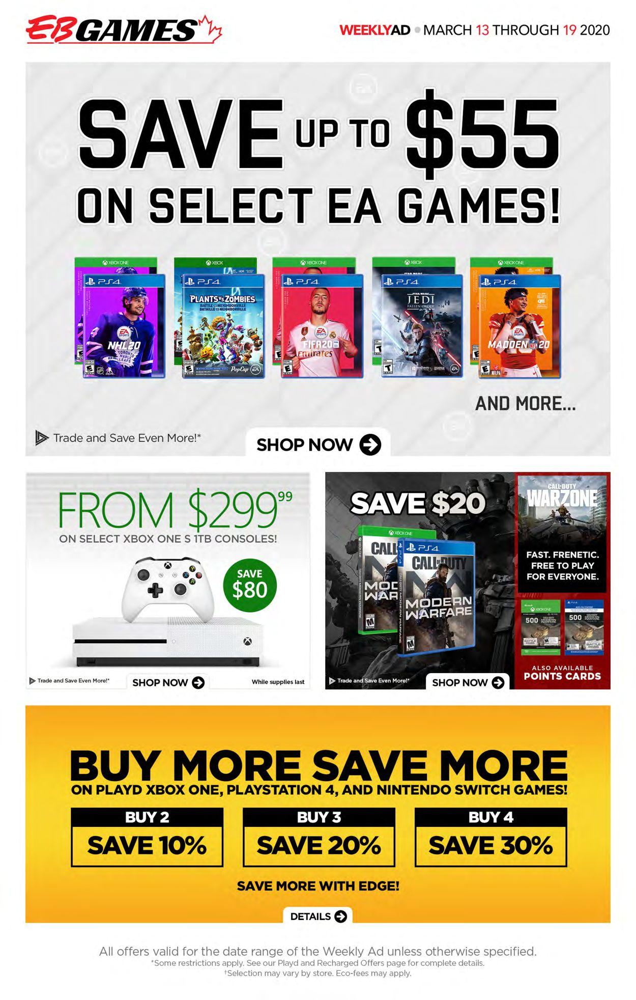 EB Games Flyer - 03/13-03/19/2020