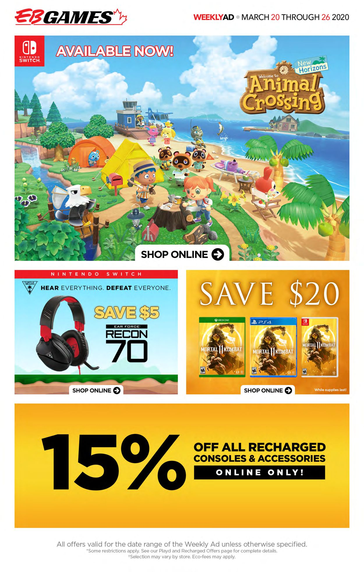 EB Games Flyer - 03/20-03/26/2020