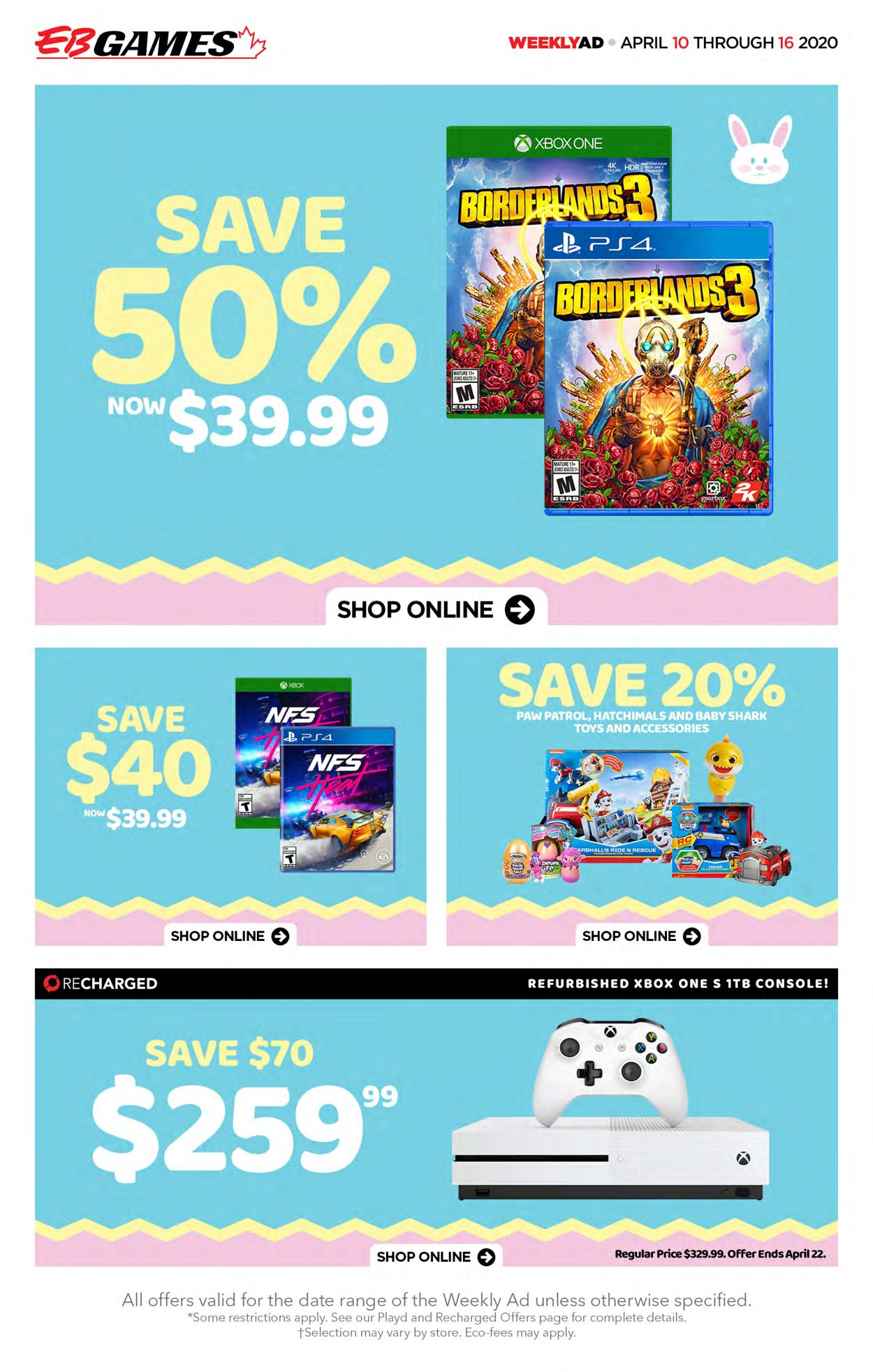 EB Games Flyer - 04/10-04/16/2020