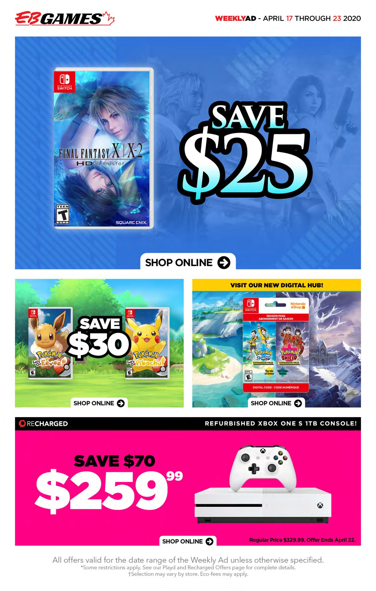 EB Games Flyer - 04/17-04/23/2020