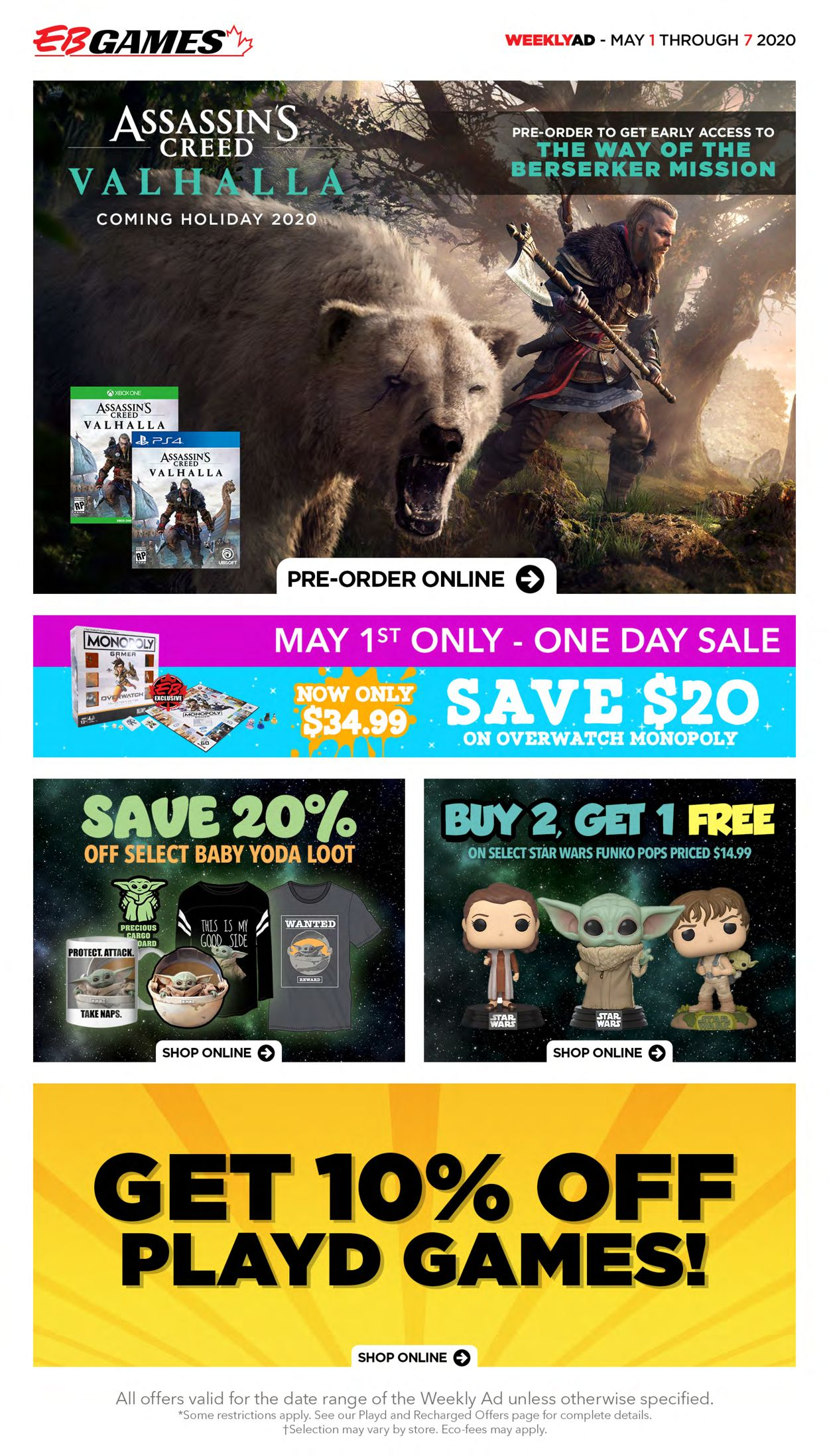 EB Games Flyer - 05/01-05/07/2020