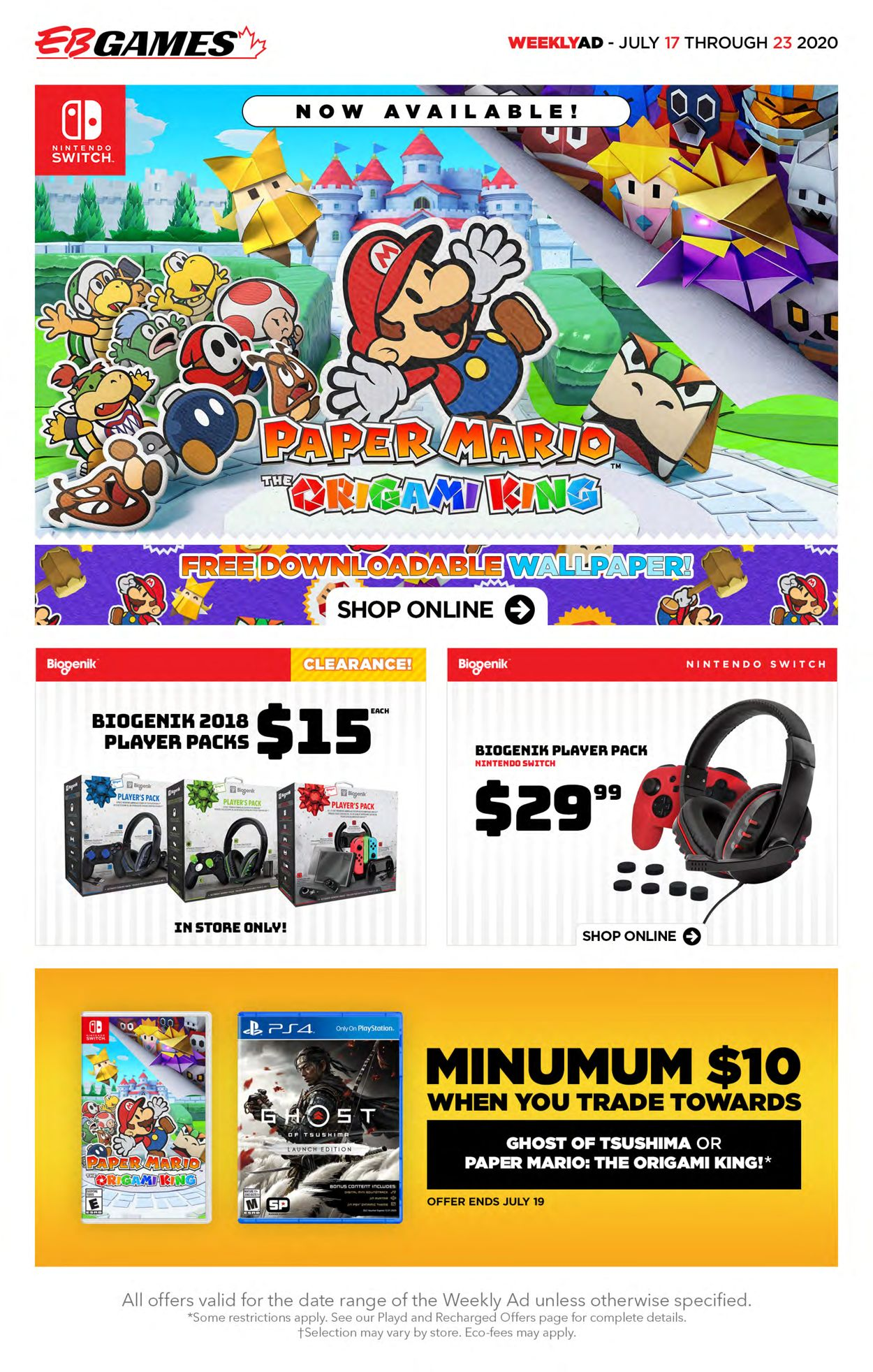 EB Games Flyer - 07/17-07/23/2020