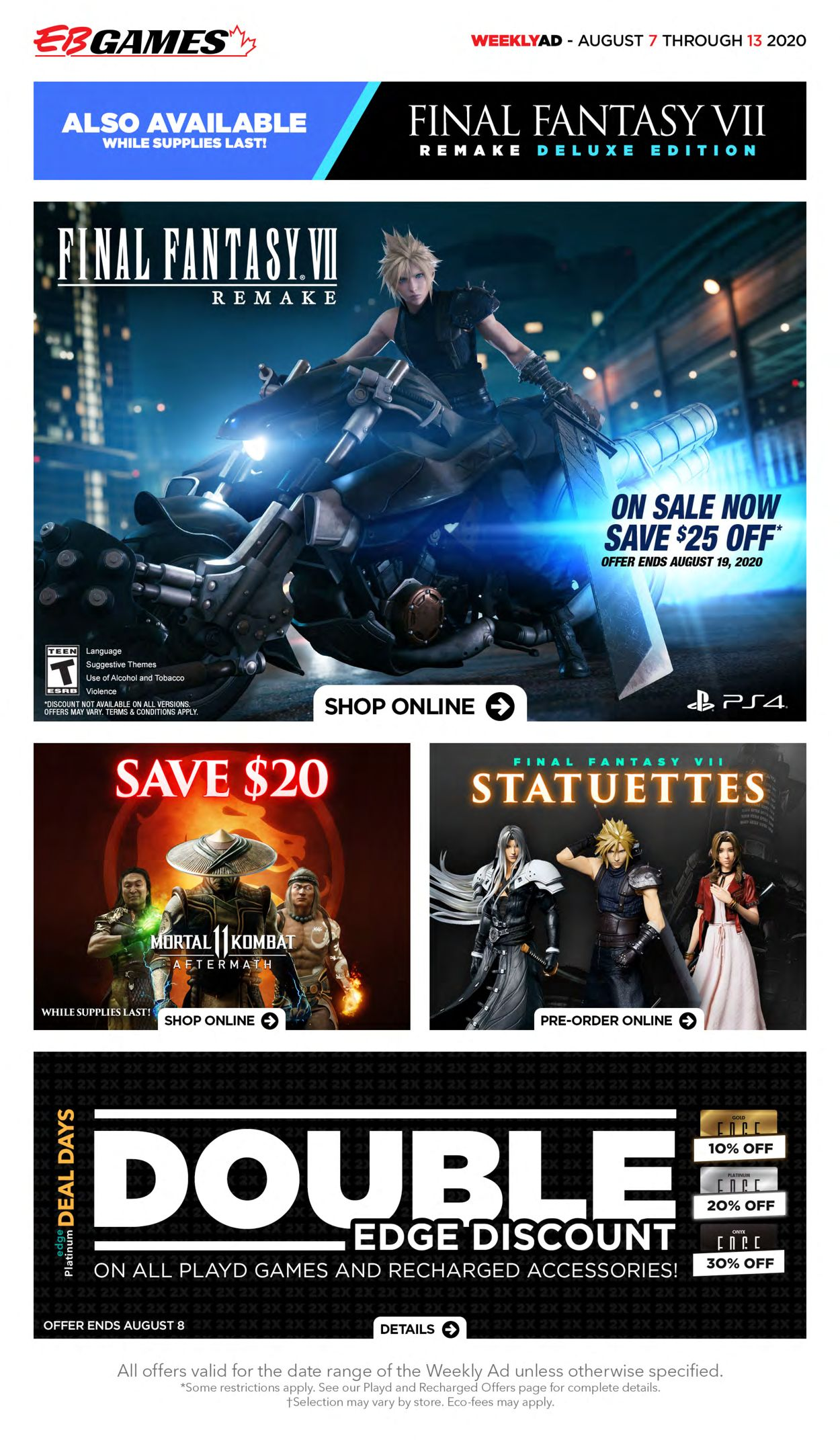 EB Games Flyer - 08/07-08/13/2020