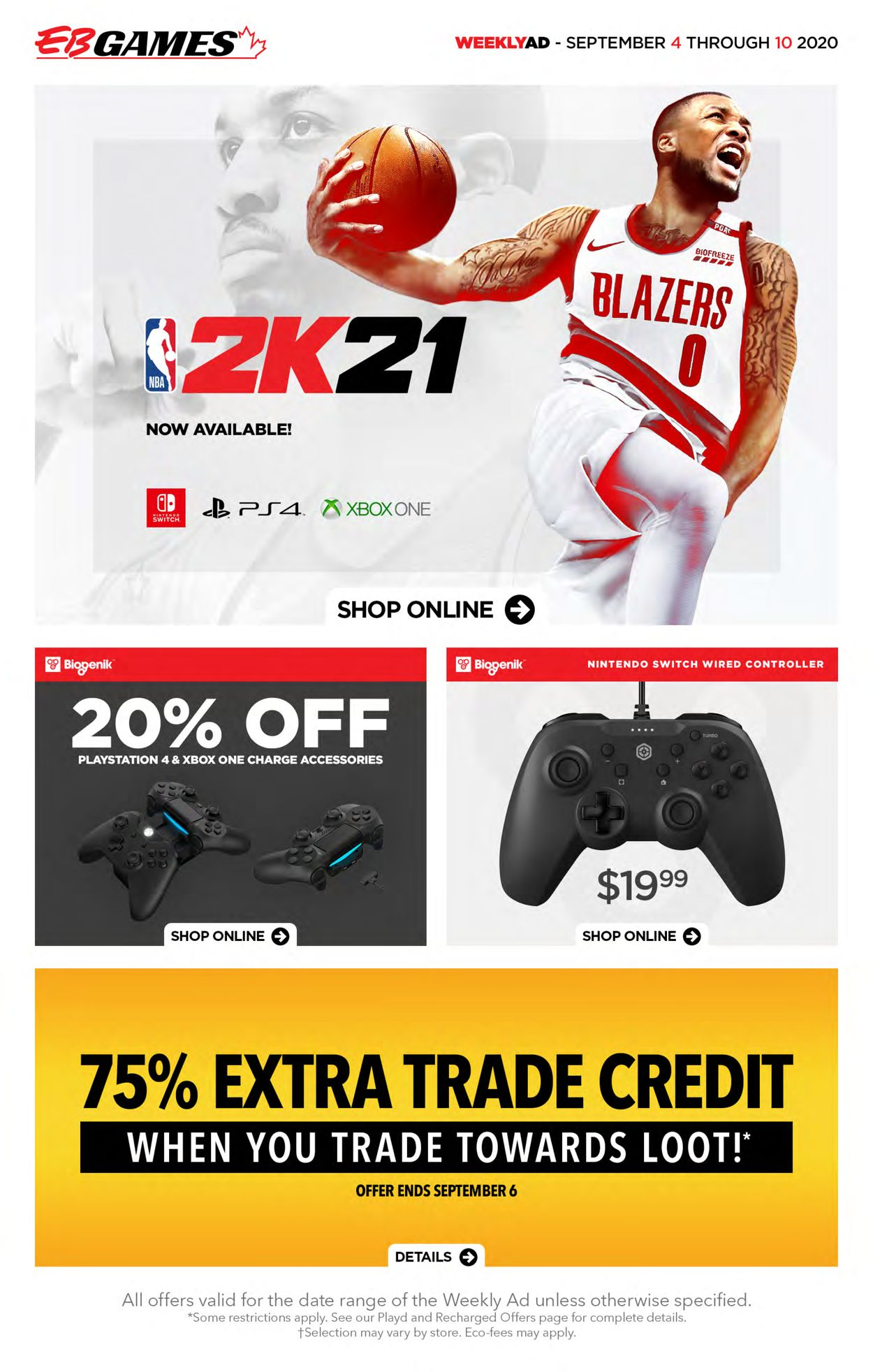 EB Games Flyer - 09/04-09/10/2020