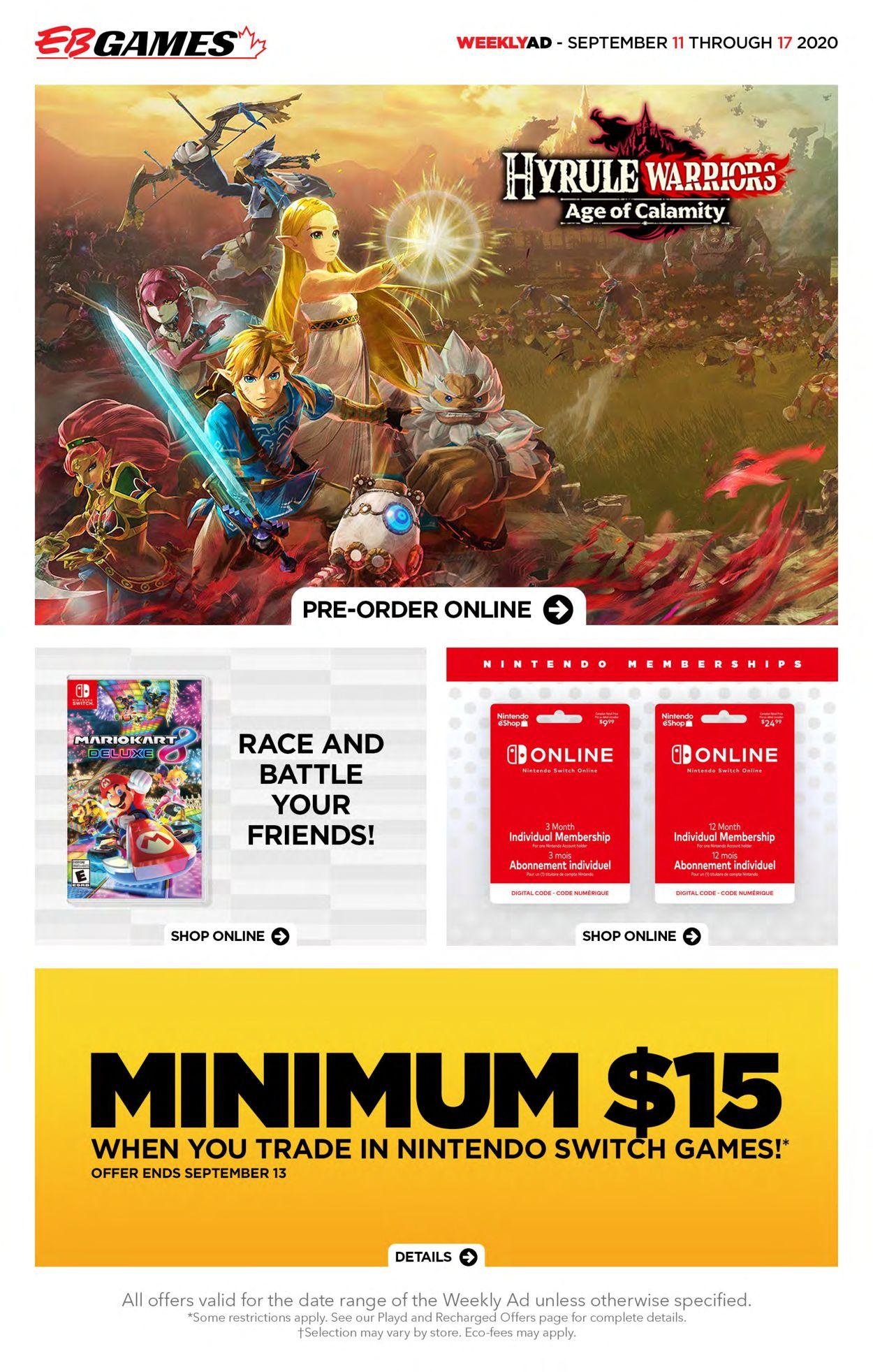 EB Games Flyer - 09/11-09/17/2020