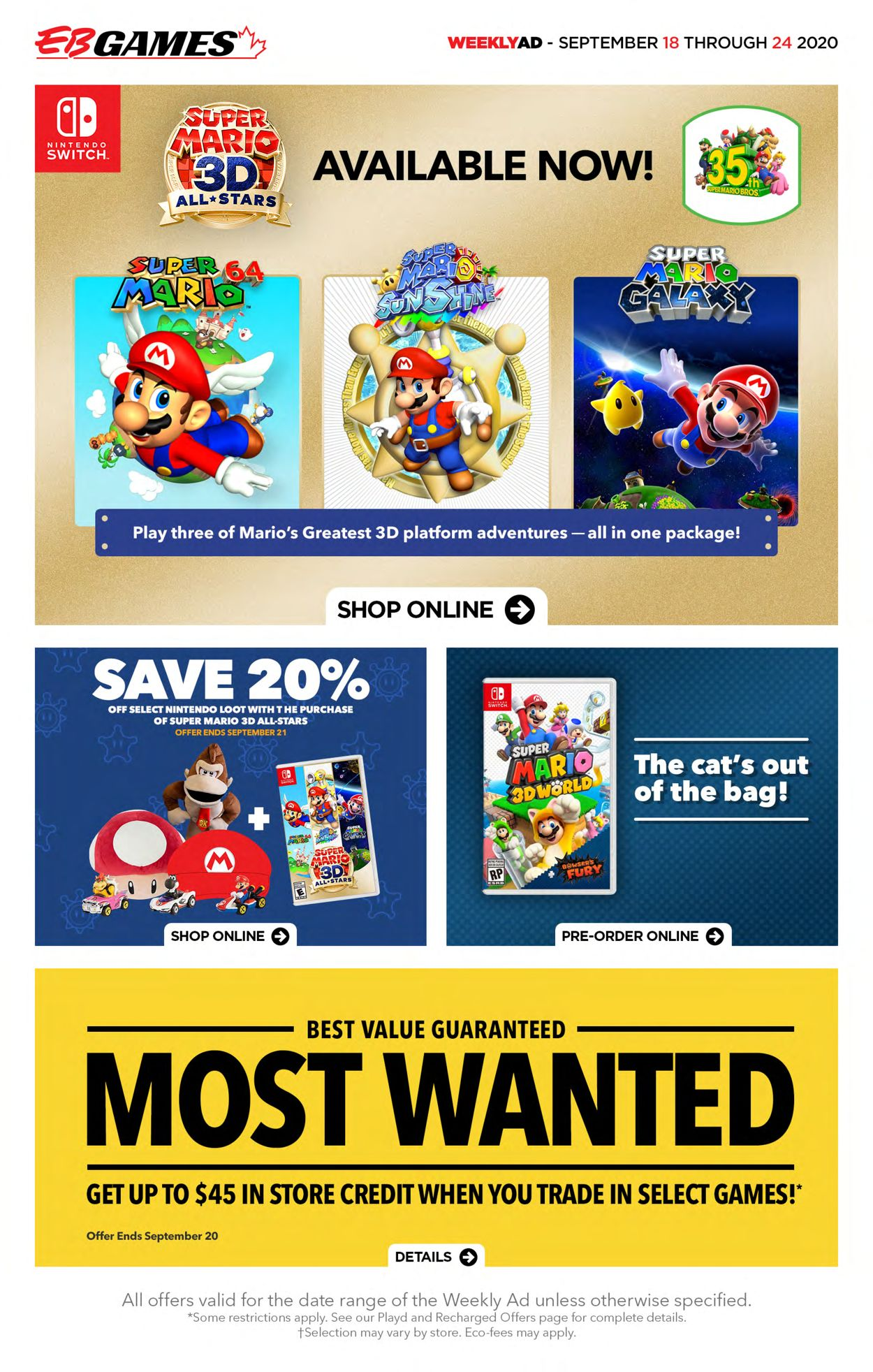 EB Games Flyer - 09/18-09/24/2020