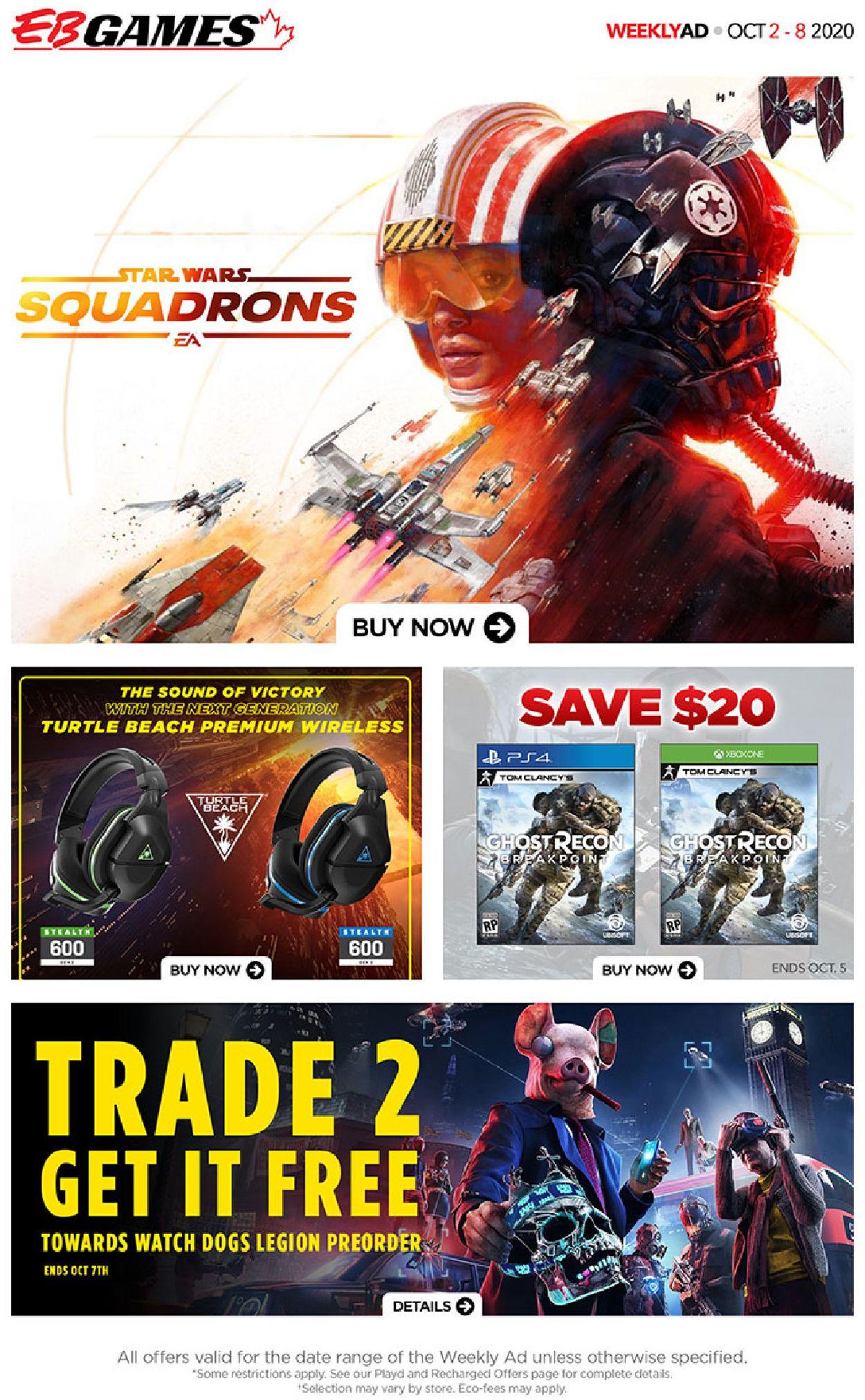 EB Games Flyer - 10/02-10/08/2020