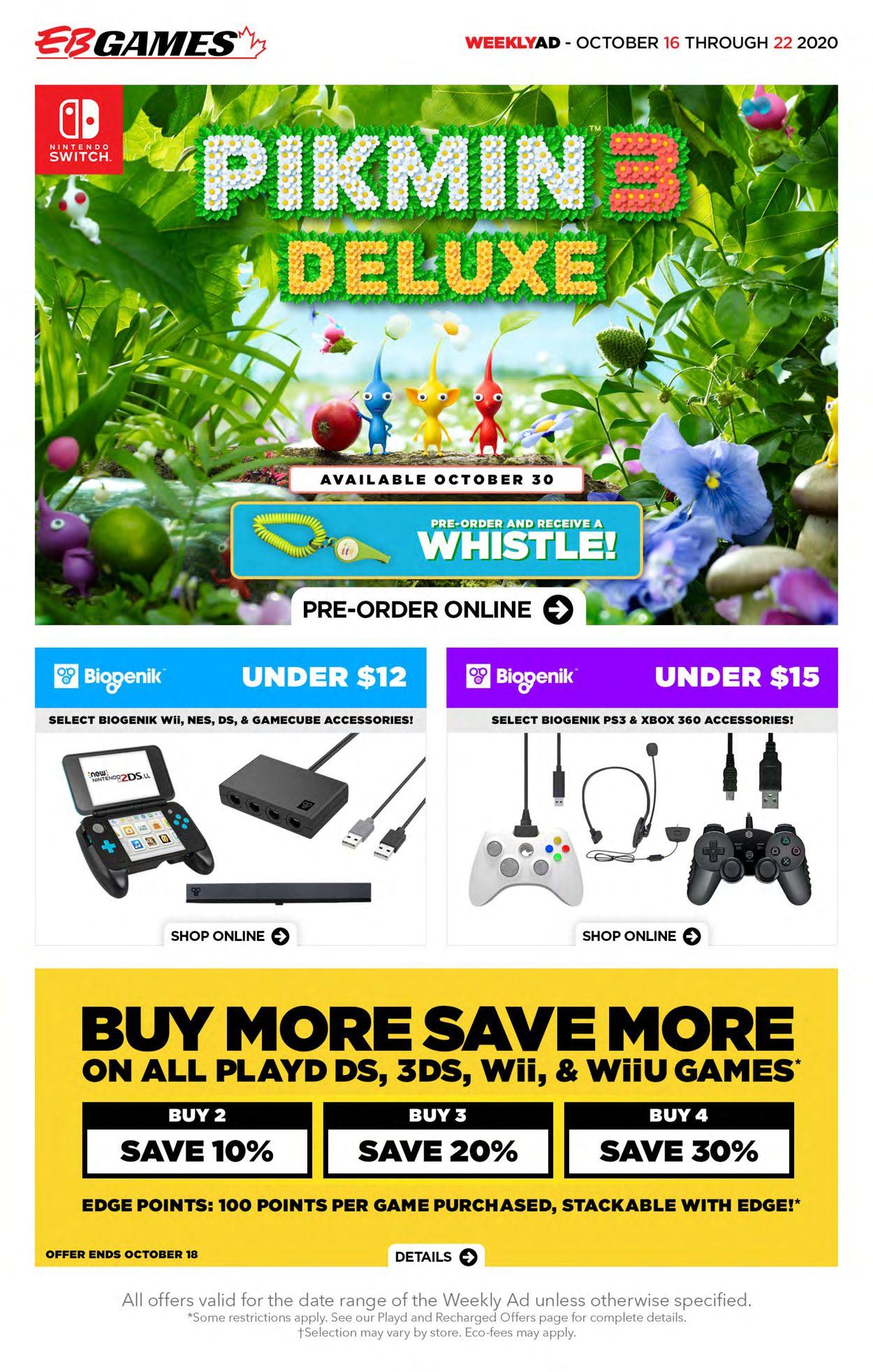 EB Games Flyer - 10/16-10/22/2020