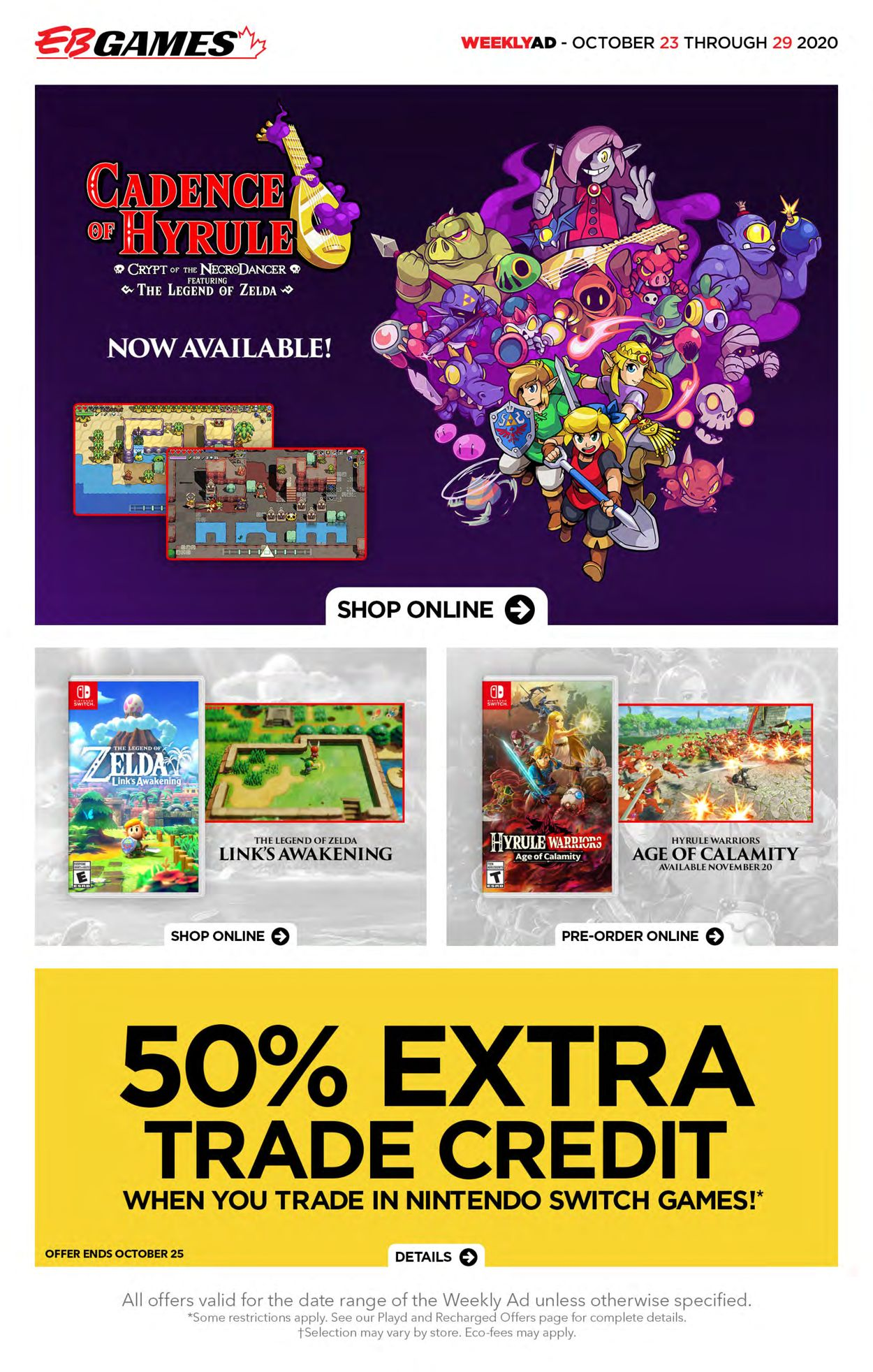 EB Games Flyer - 10/23-10/29/2020