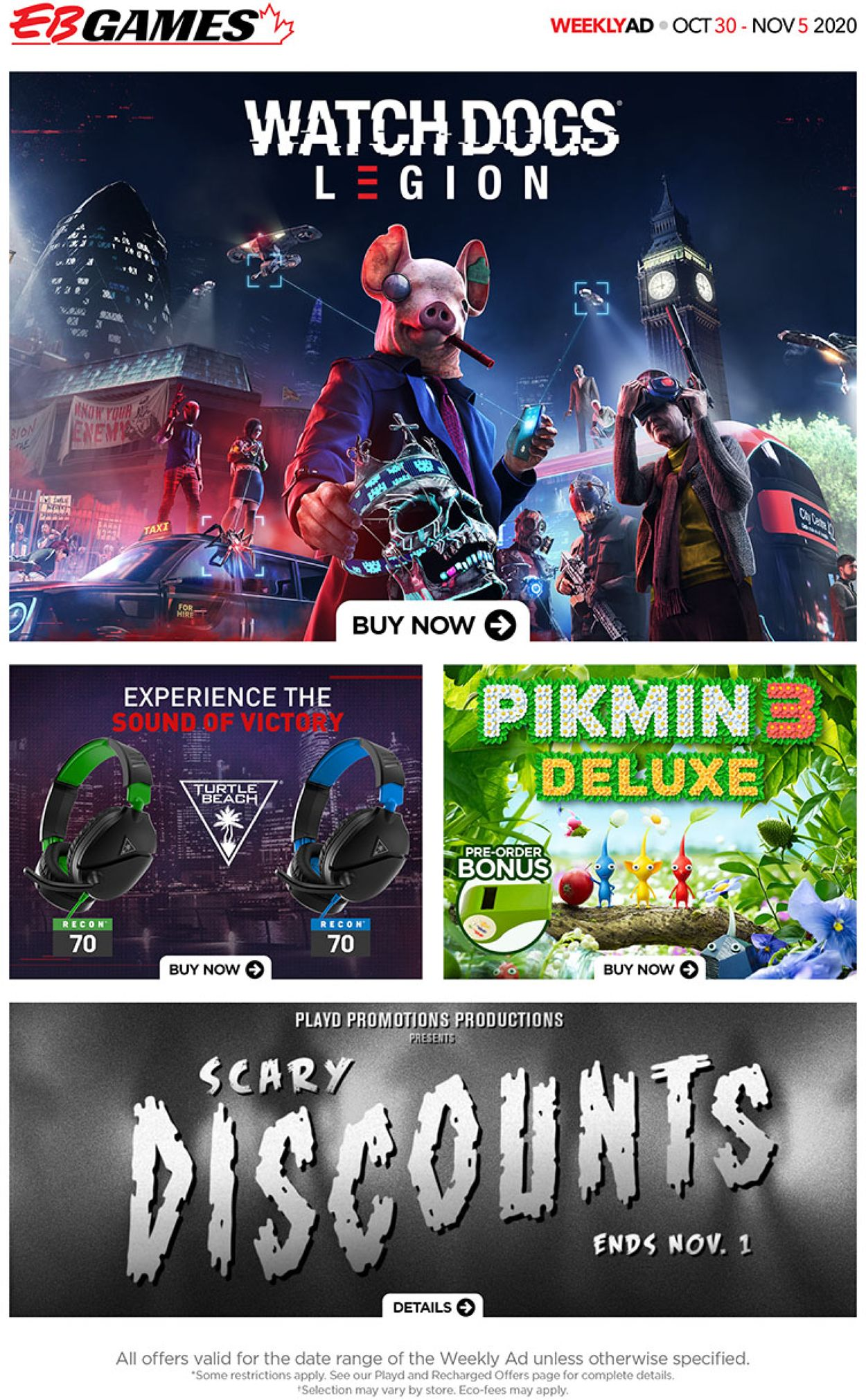 EB Games Flyer - 10/30-11/05/2020