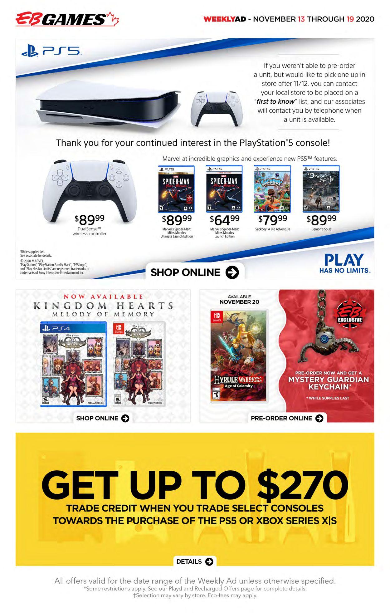 EB Games Flyer - 11/13-11/19/2020