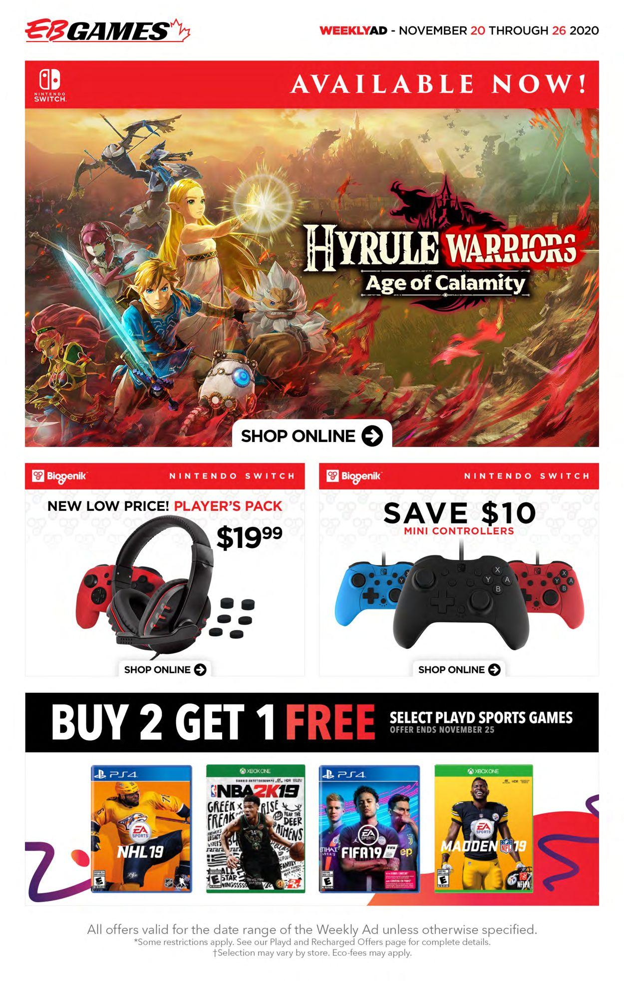 EB Games - Black Friday Ad 2020 Flyer - 11/20-11/26/2020