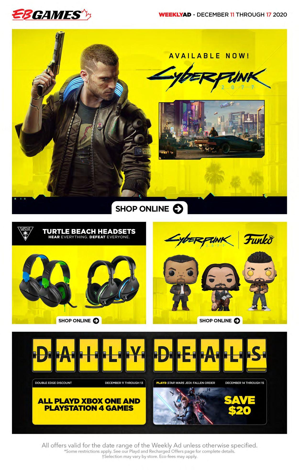 EB Games - Christmas 2020 Flyer - 12/11-12/17/2020