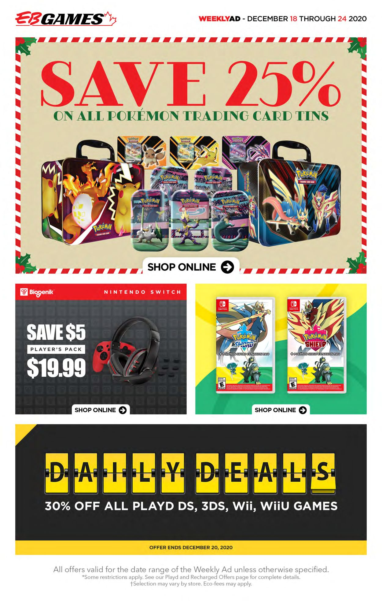 EB Games - Christmas 2020 Flyer - 12/18-12/24/2020