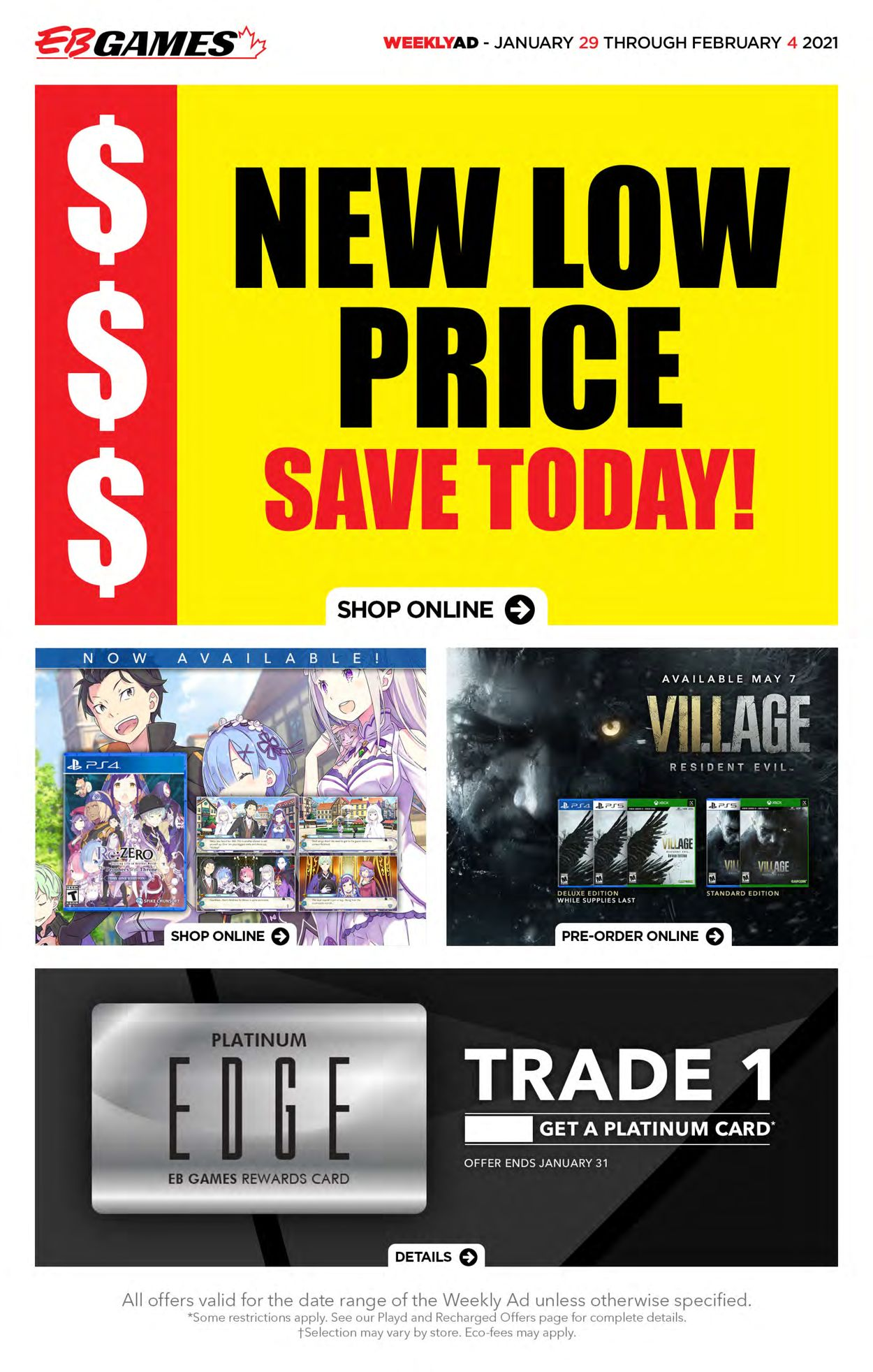 EB Games Flyer - 01/29-02/04/2021