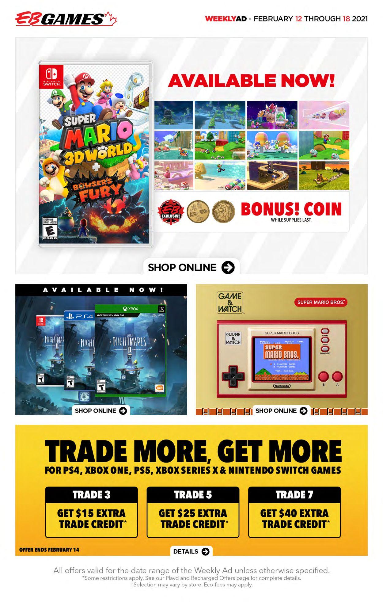 EB Games Flyer - 02/12-02/18/2021
