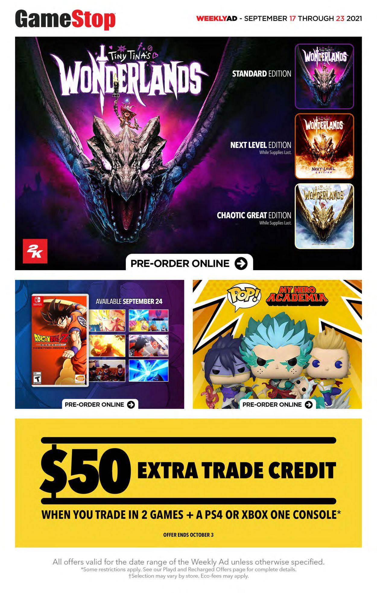 EB Games Flyer - 09/17-09/23/2021