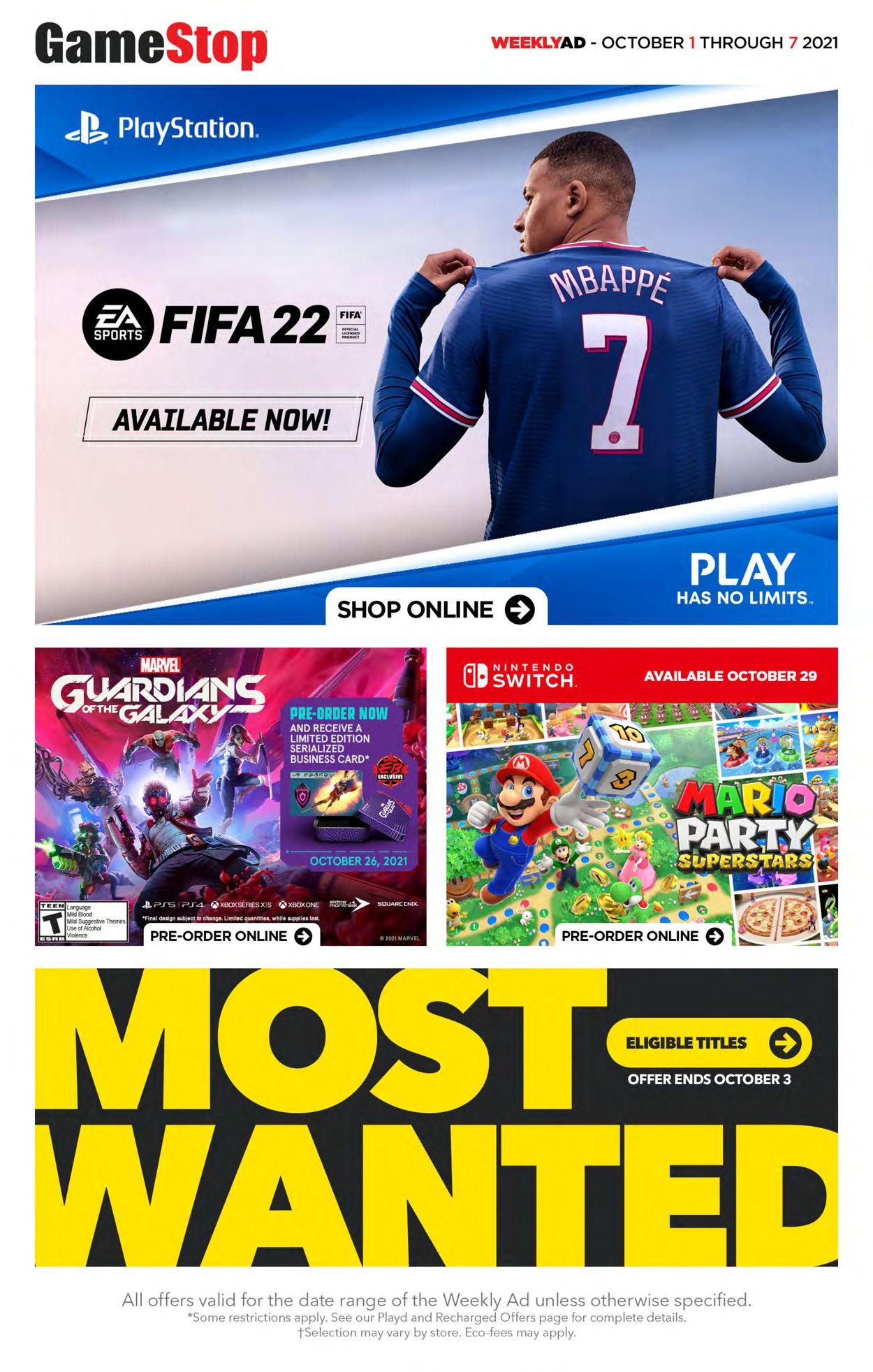 EB Games Flyer - 10/01-10/07/2021