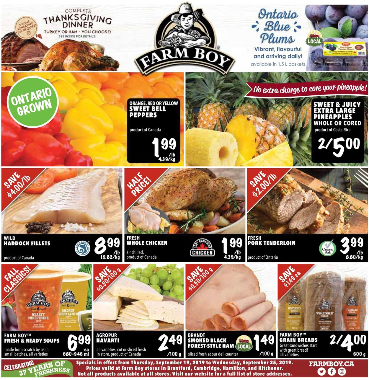 Farm Boy Flyer - 09/19-09/25/2019