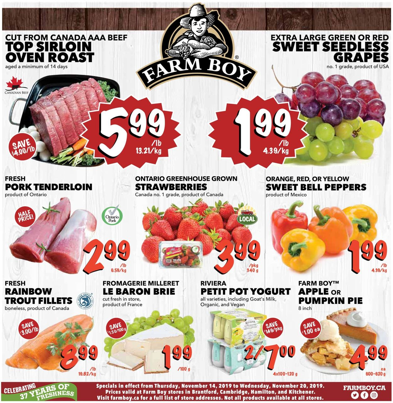 Farm Boy Flyer - 11/14-11/20/2019