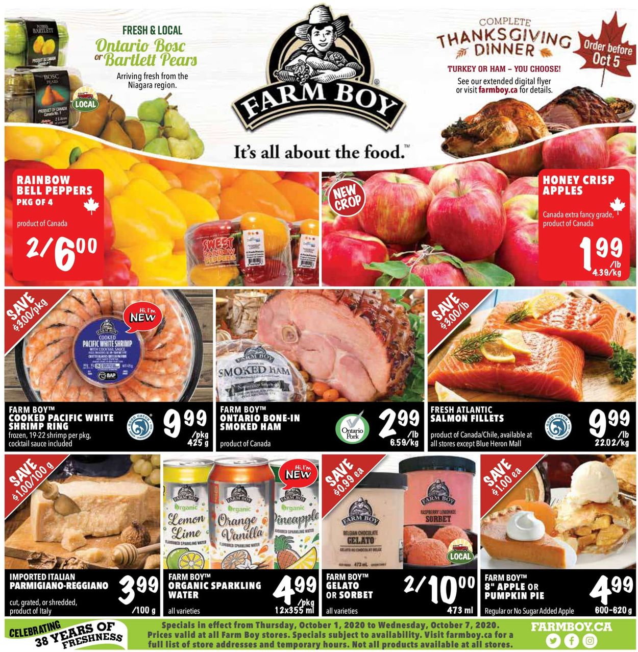 Farm Boy Flyer - 10/01-10/07/2020