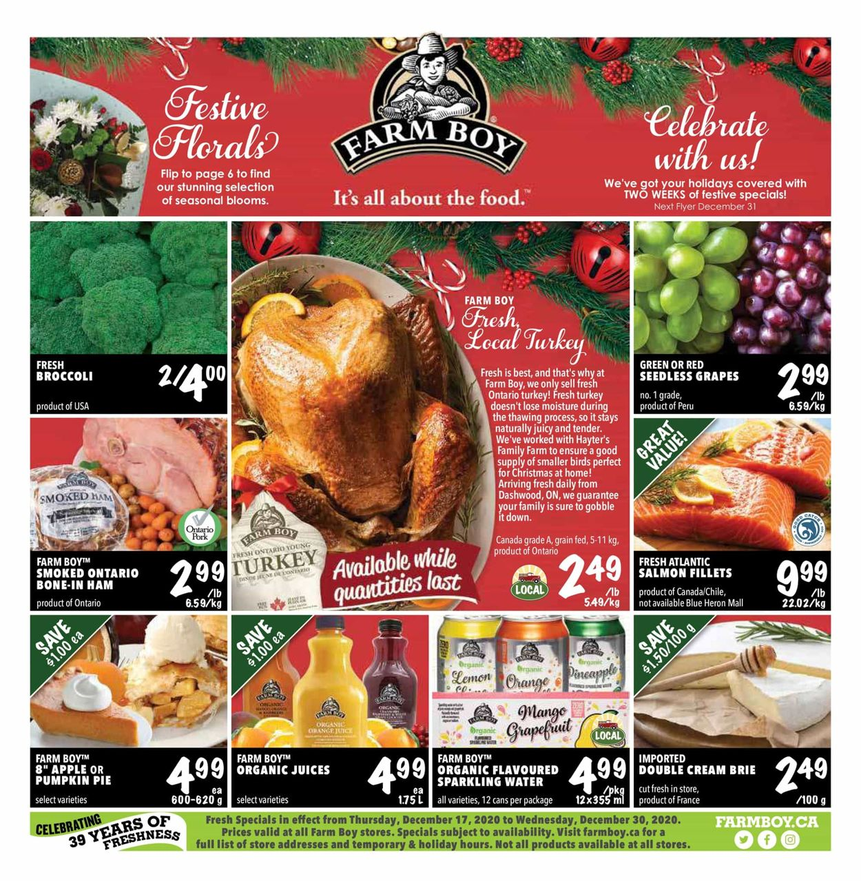 Farm Boy - Christmas 2020 Flyer - 12/17-12/30/2020