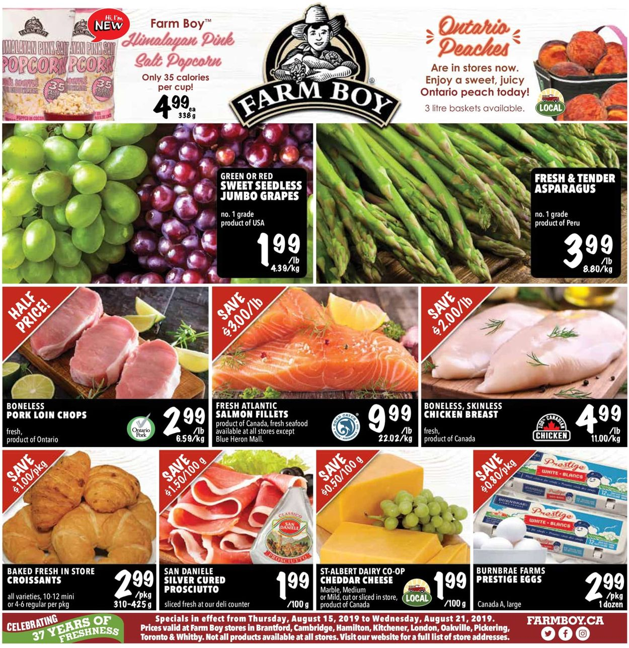 Farm Boy Flyer - 08/15-08/21/2019