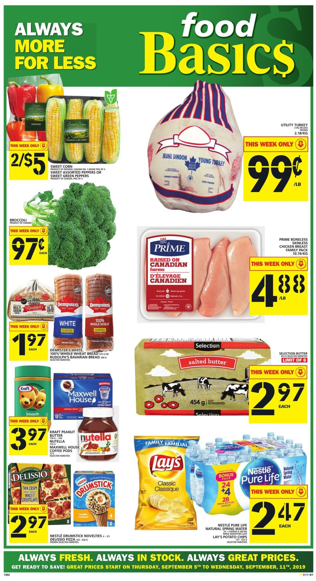 Food Basics Flyer - 09/05-09/11/2019