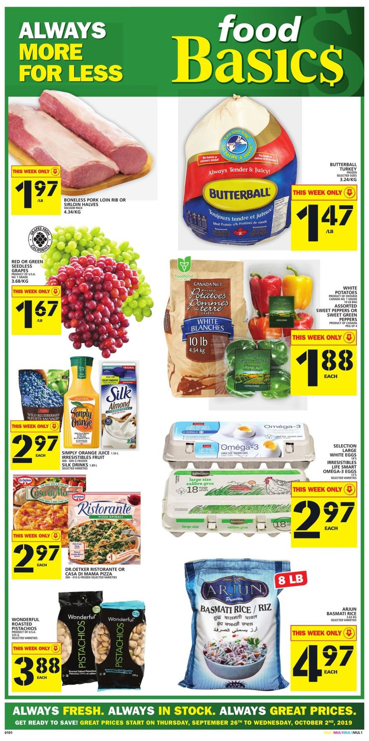 Food Basics Flyer - 09/26-10/02/2019