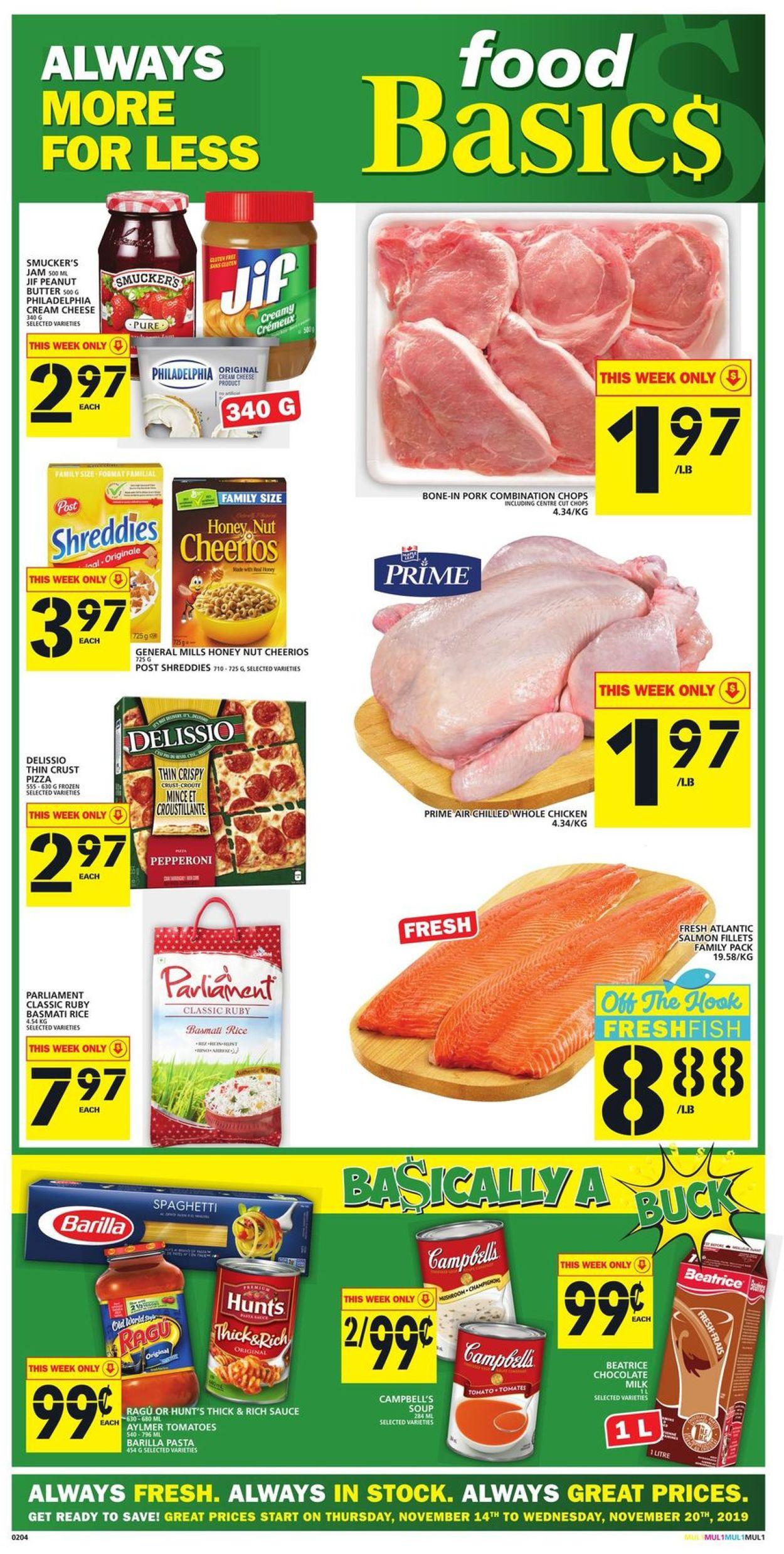 Food Basics Flyer - 11/14-11/20/2019