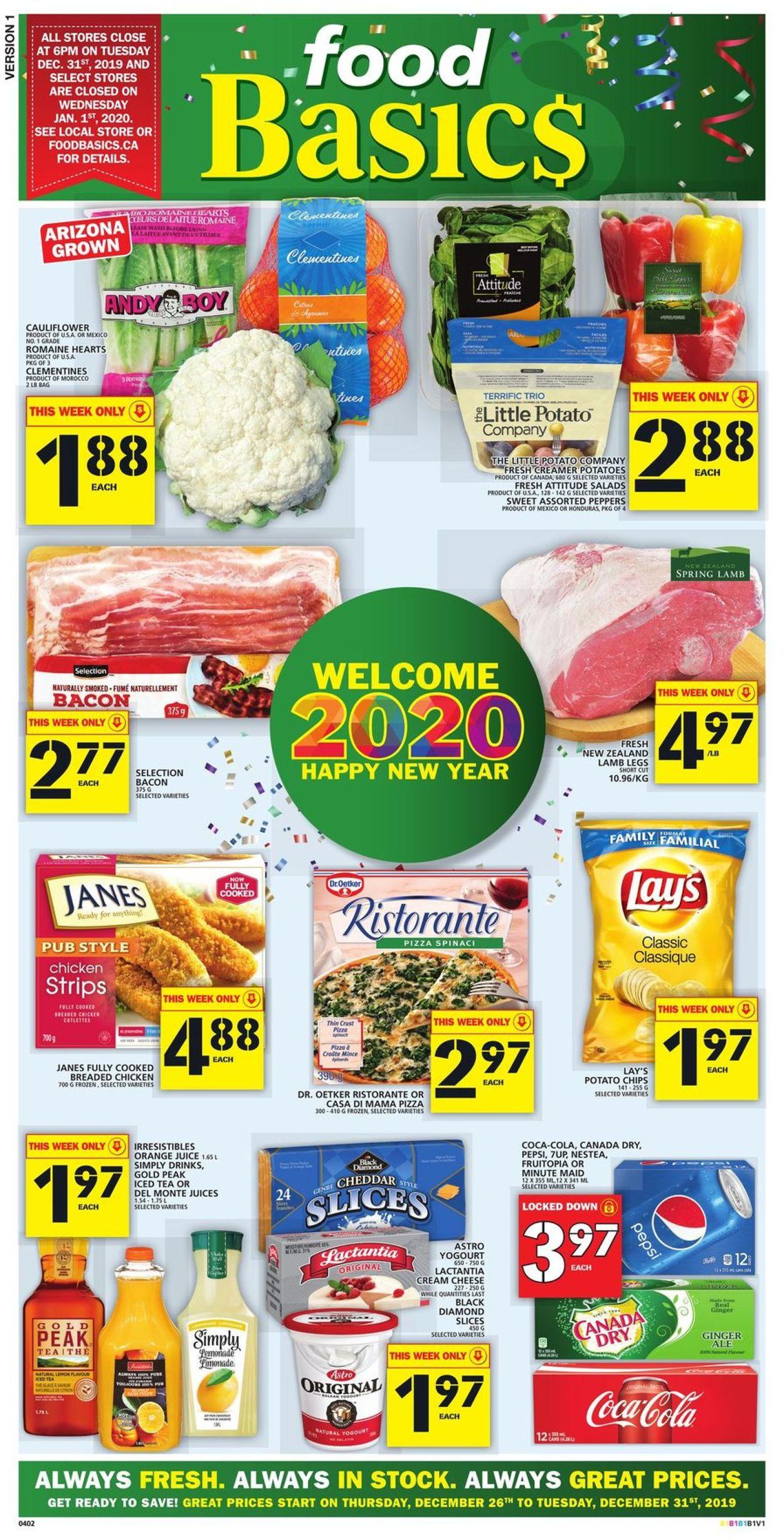 Food Basics Flyer - 12/26-12/31/2019