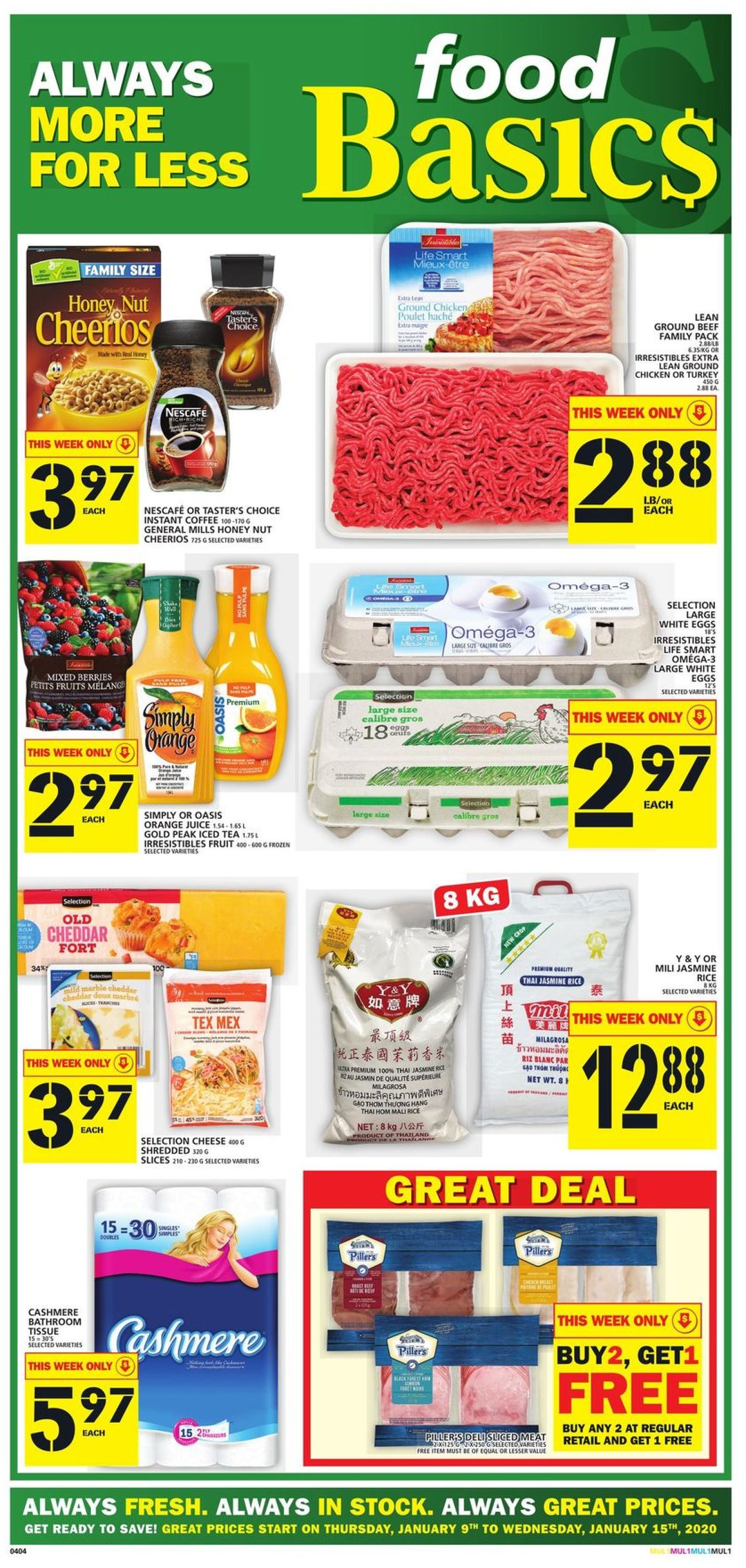 Food Basics Flyer - 01/09-01/15/2020