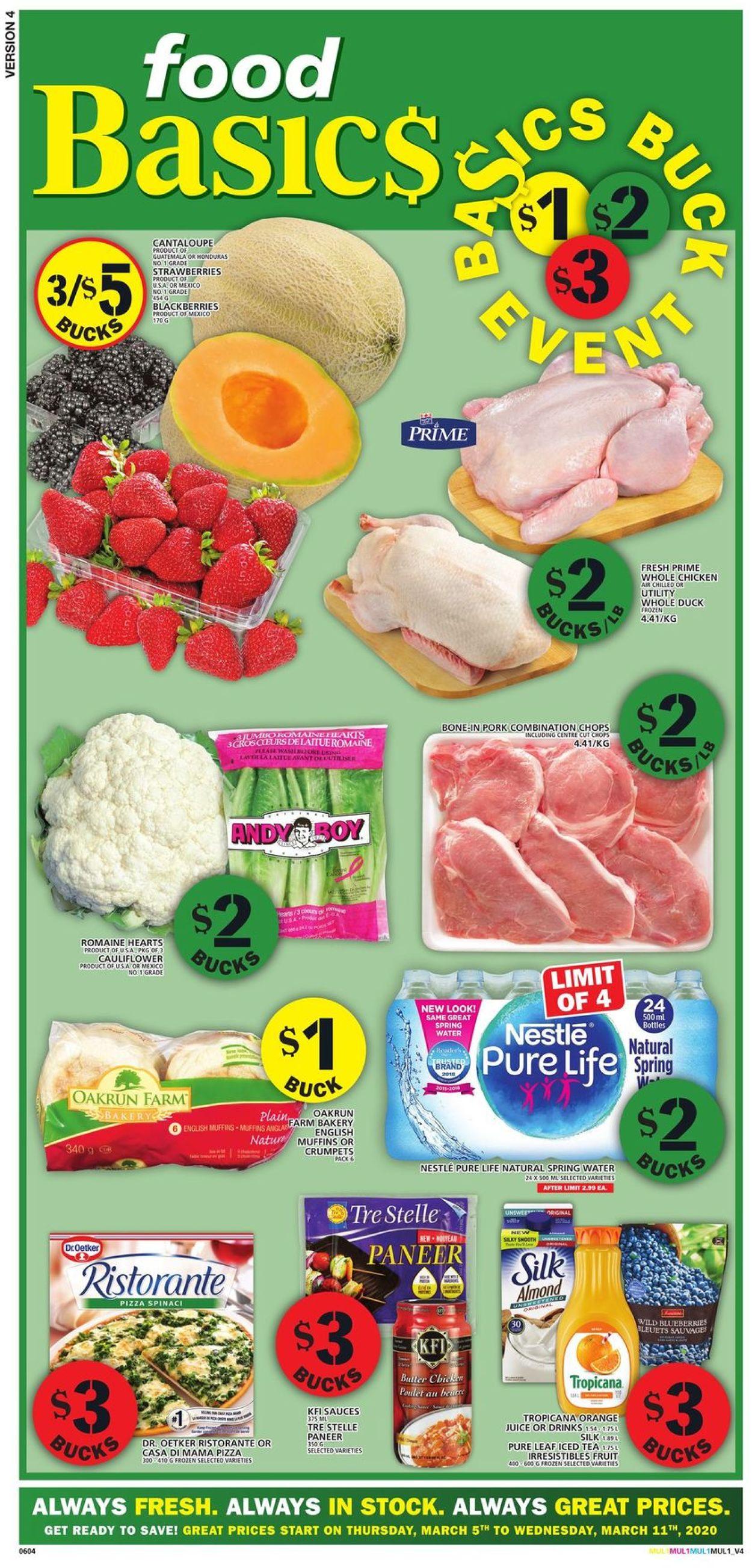 Food Basics Flyer - 03/05-03/11/2020