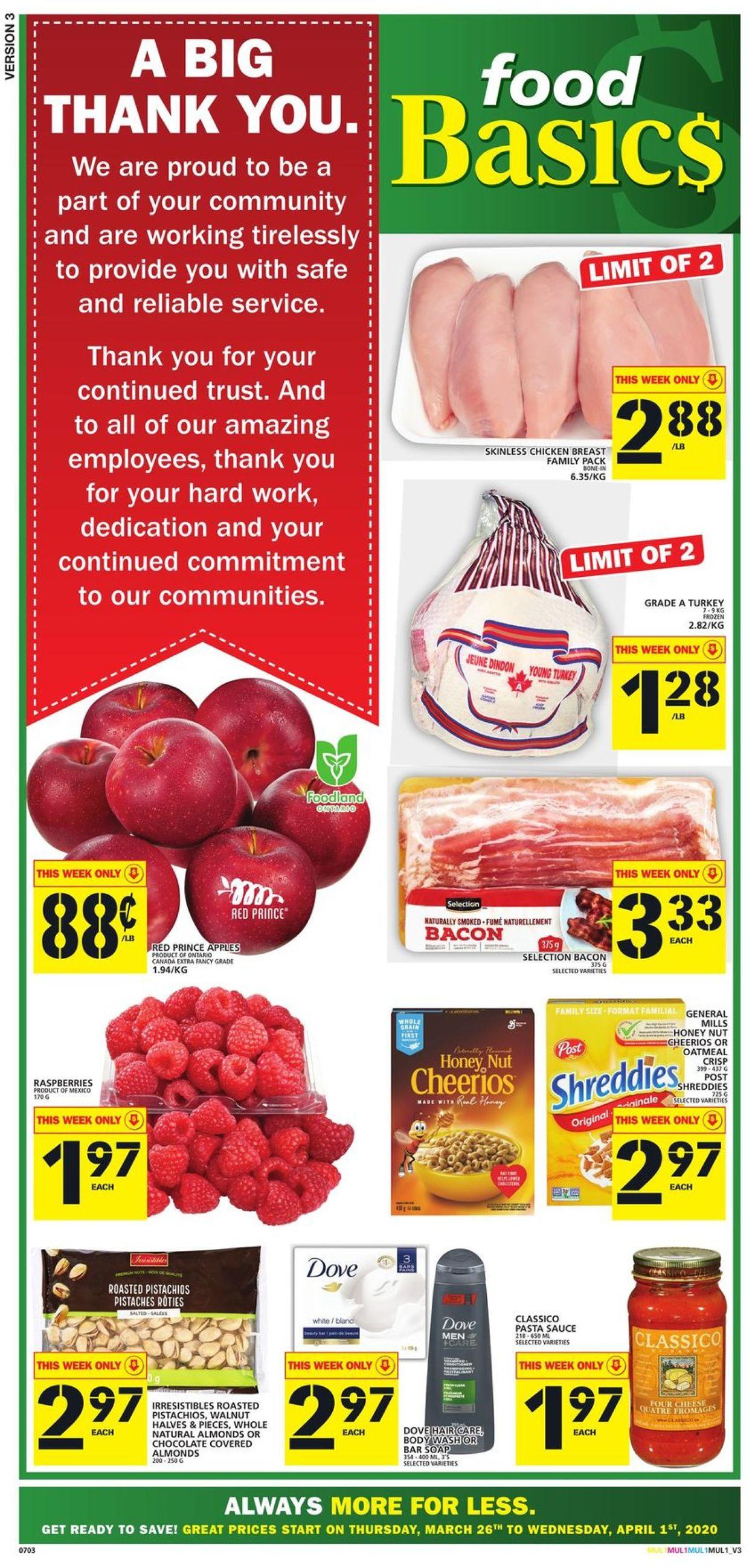 Food Basics Flyer - 03/26-04/01/2020