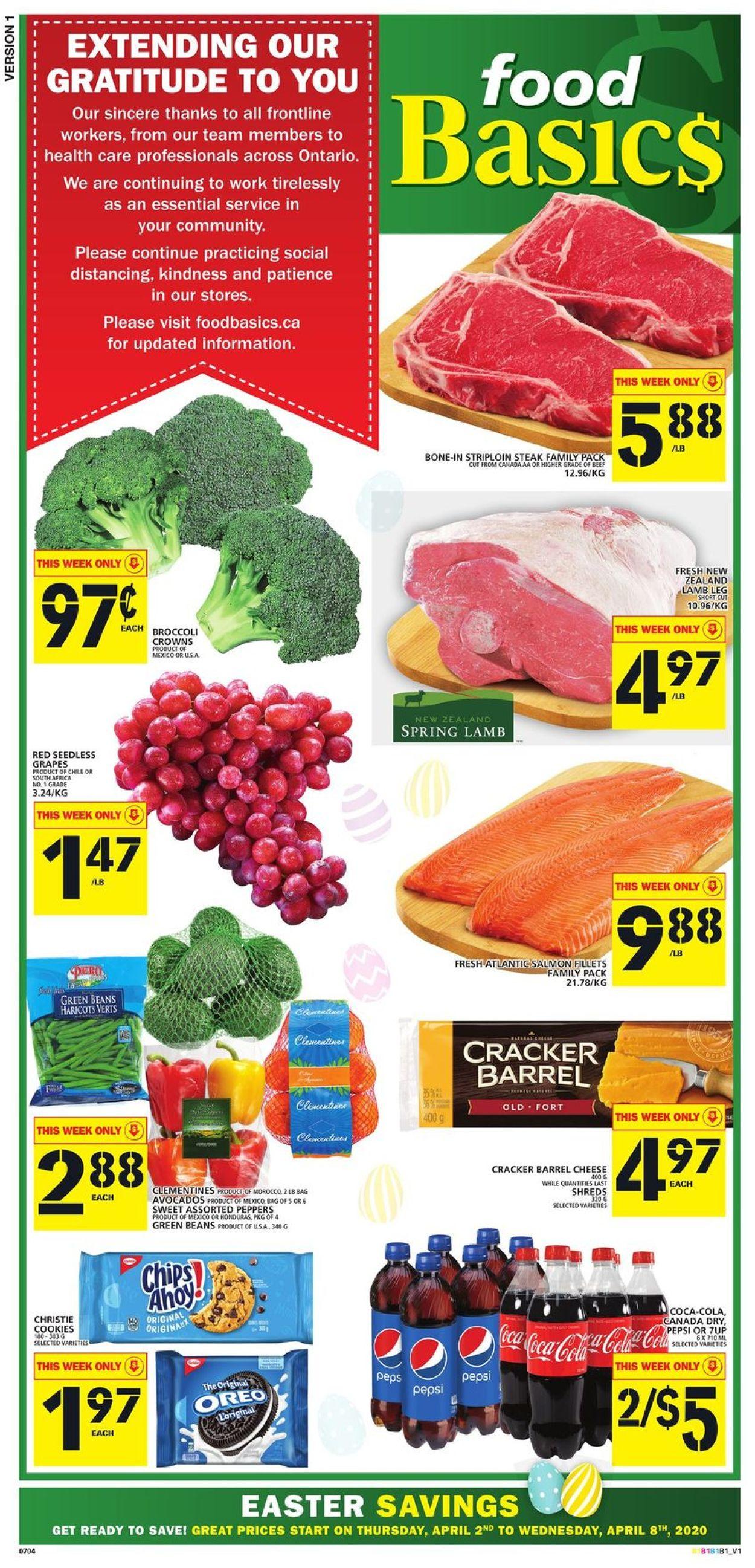 Food Basics Flyer - 04/02-04/08/2020