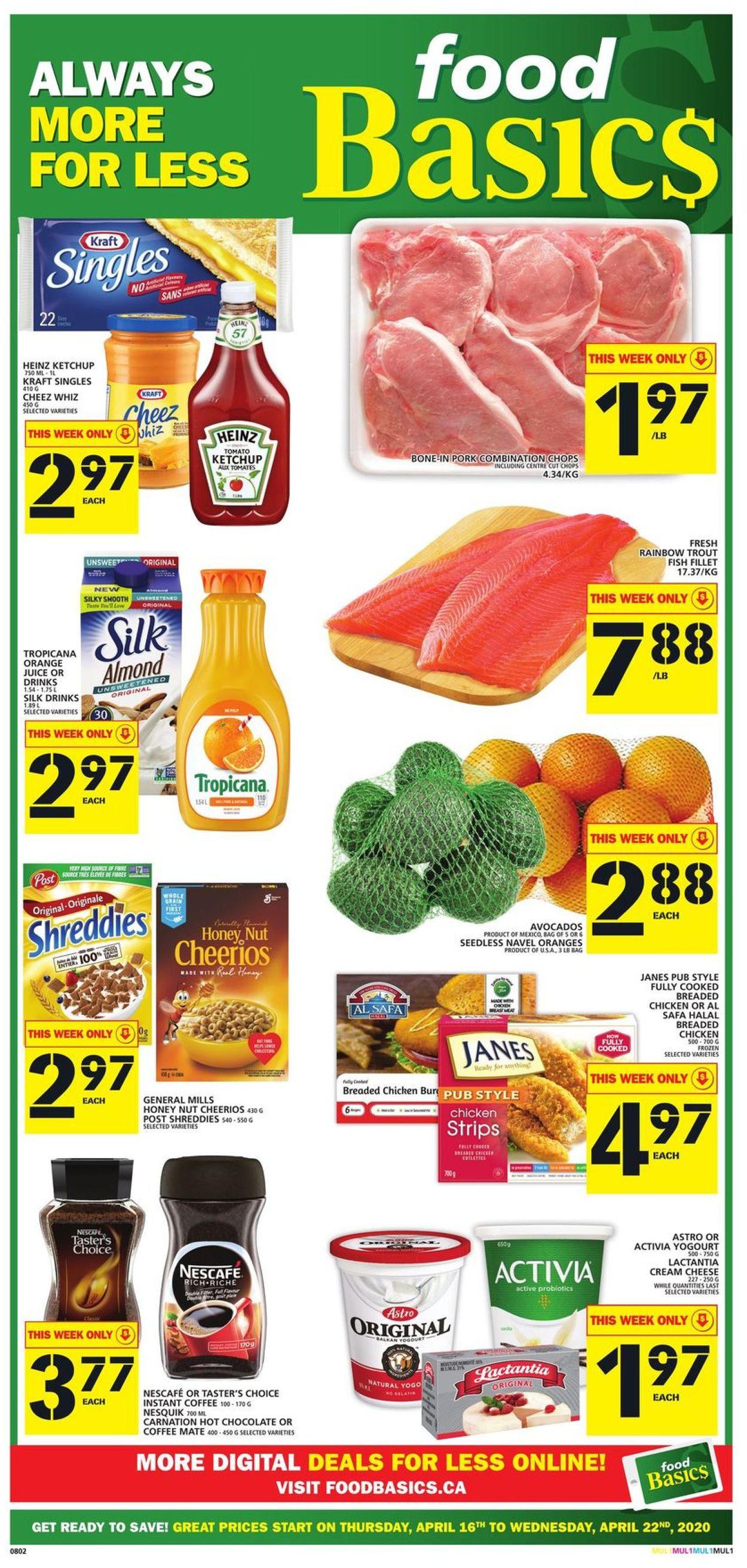 Food Basics Flyer - 04/16-04/22/2020