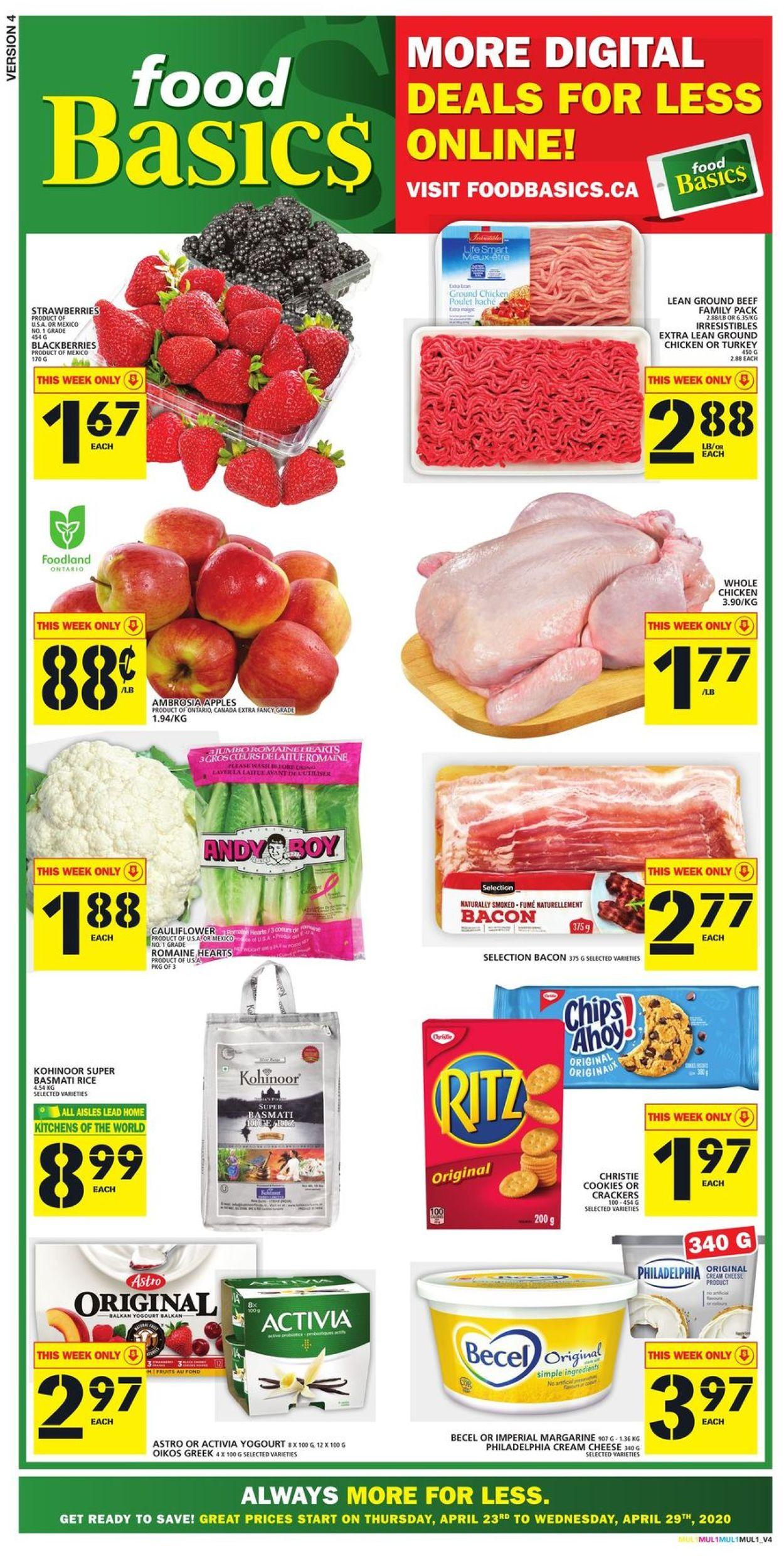 Food Basics Flyer - 04/23-04/29/2020