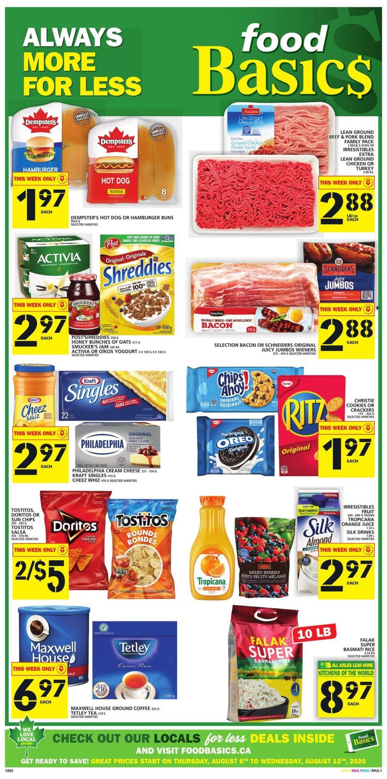 Food Basics Flyer - 08/06-08/12/2020