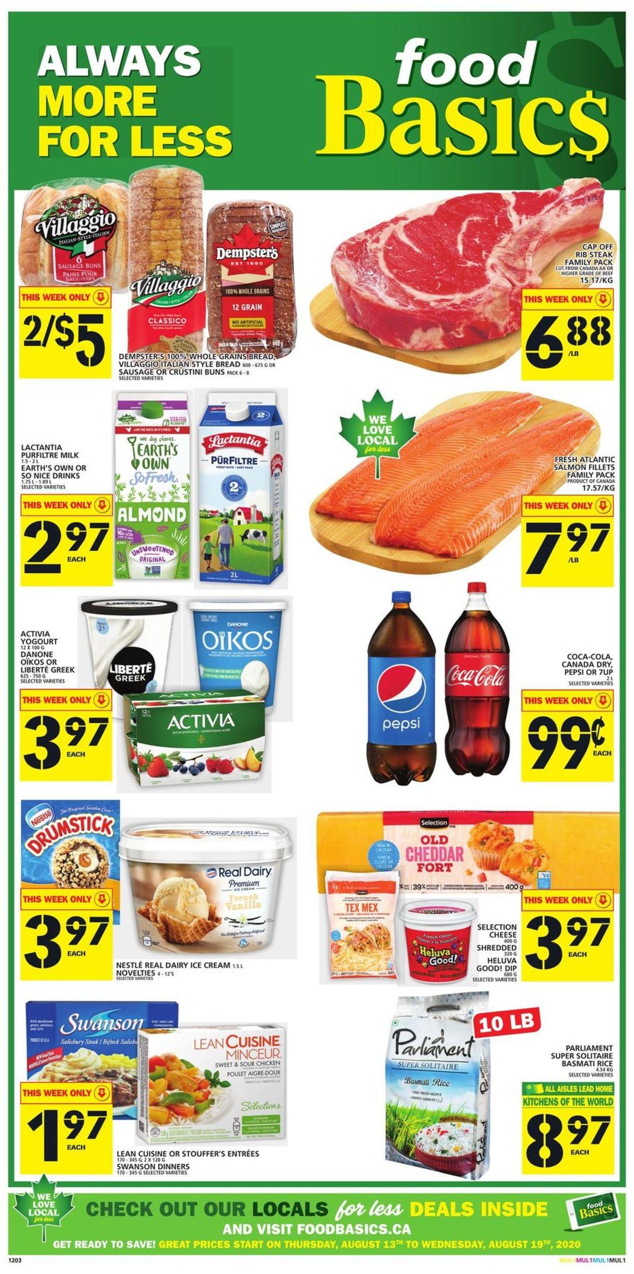 Food Basics Flyer - 08/13-08/19/2020