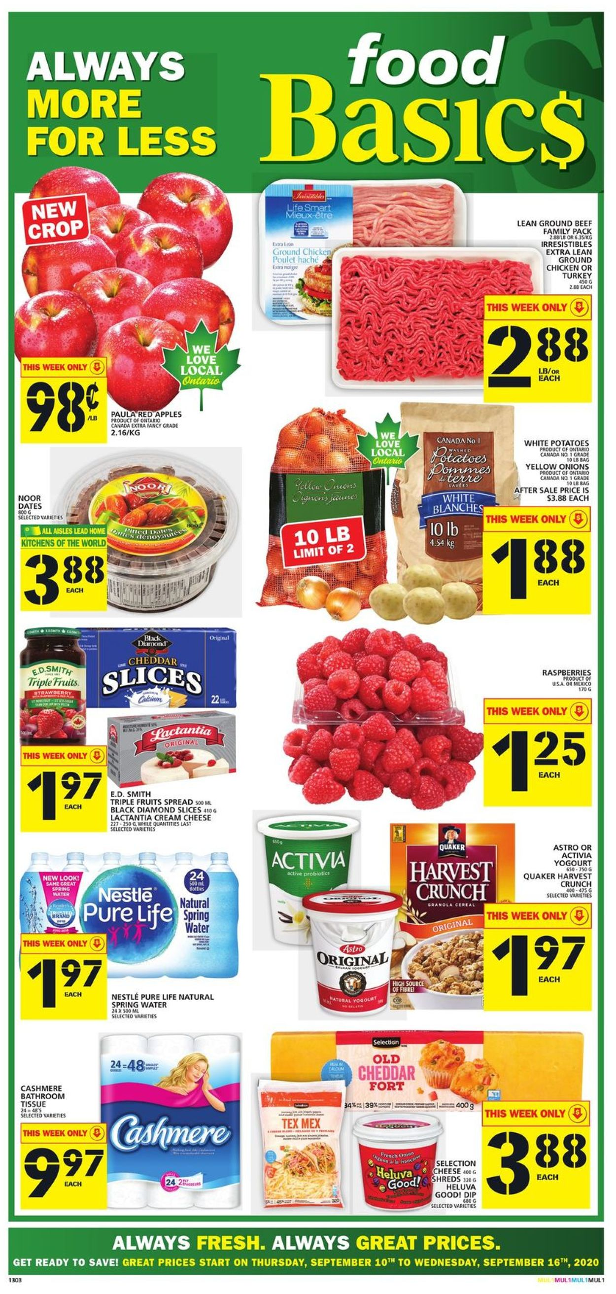 Food Basics Flyer - 09/10-09/16/2020