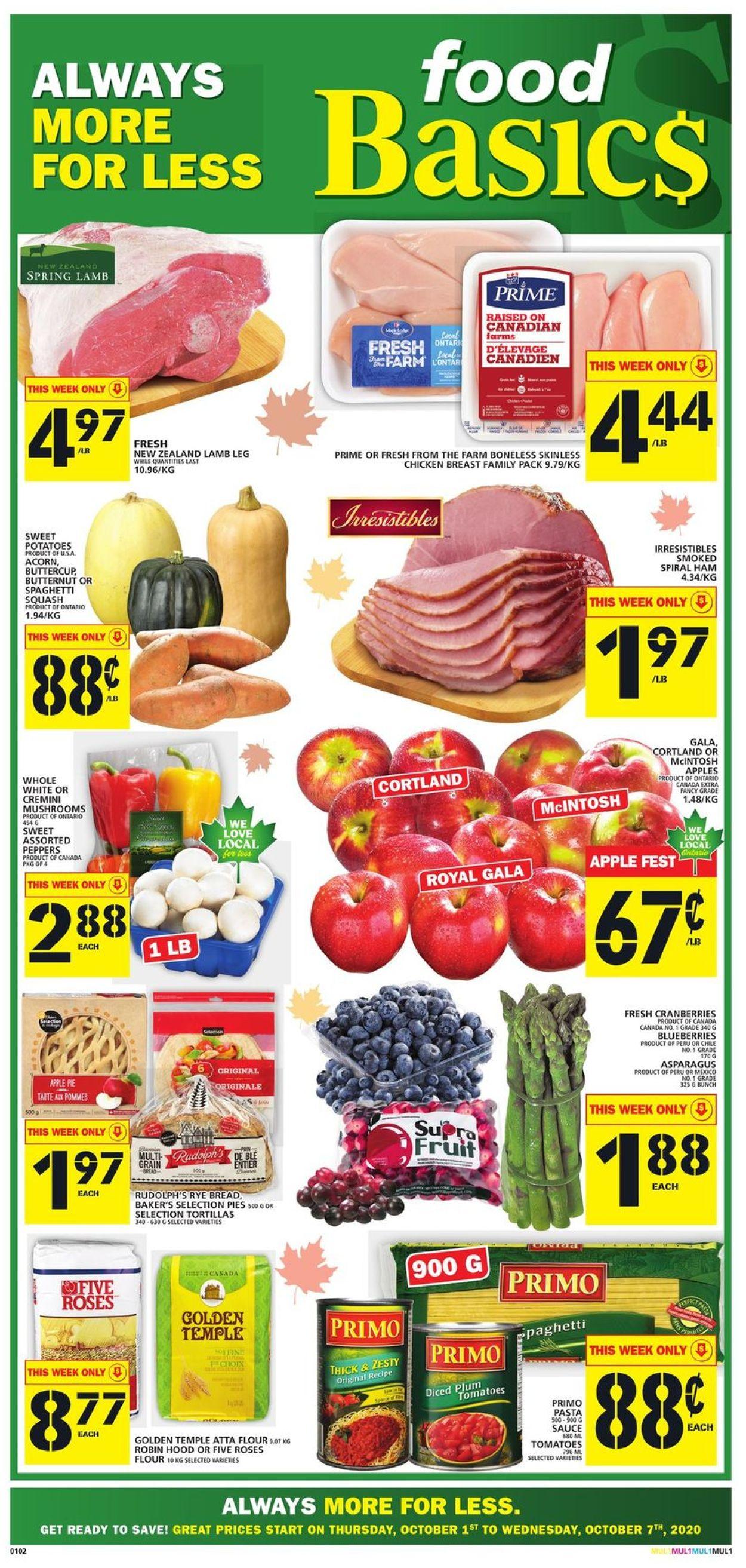 Food Basics Flyer - 10/01-10/07/2020