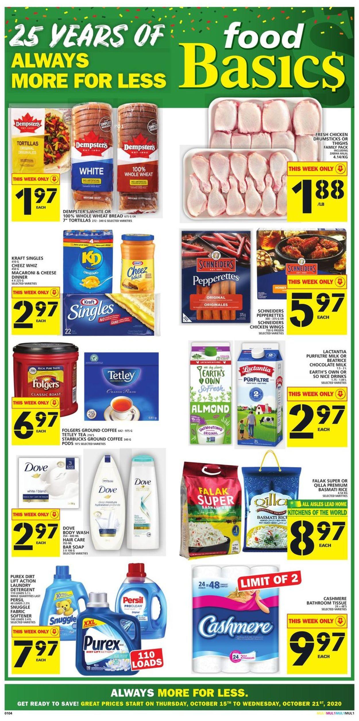 Food Basics Flyer - 10/15-10/21/2020
