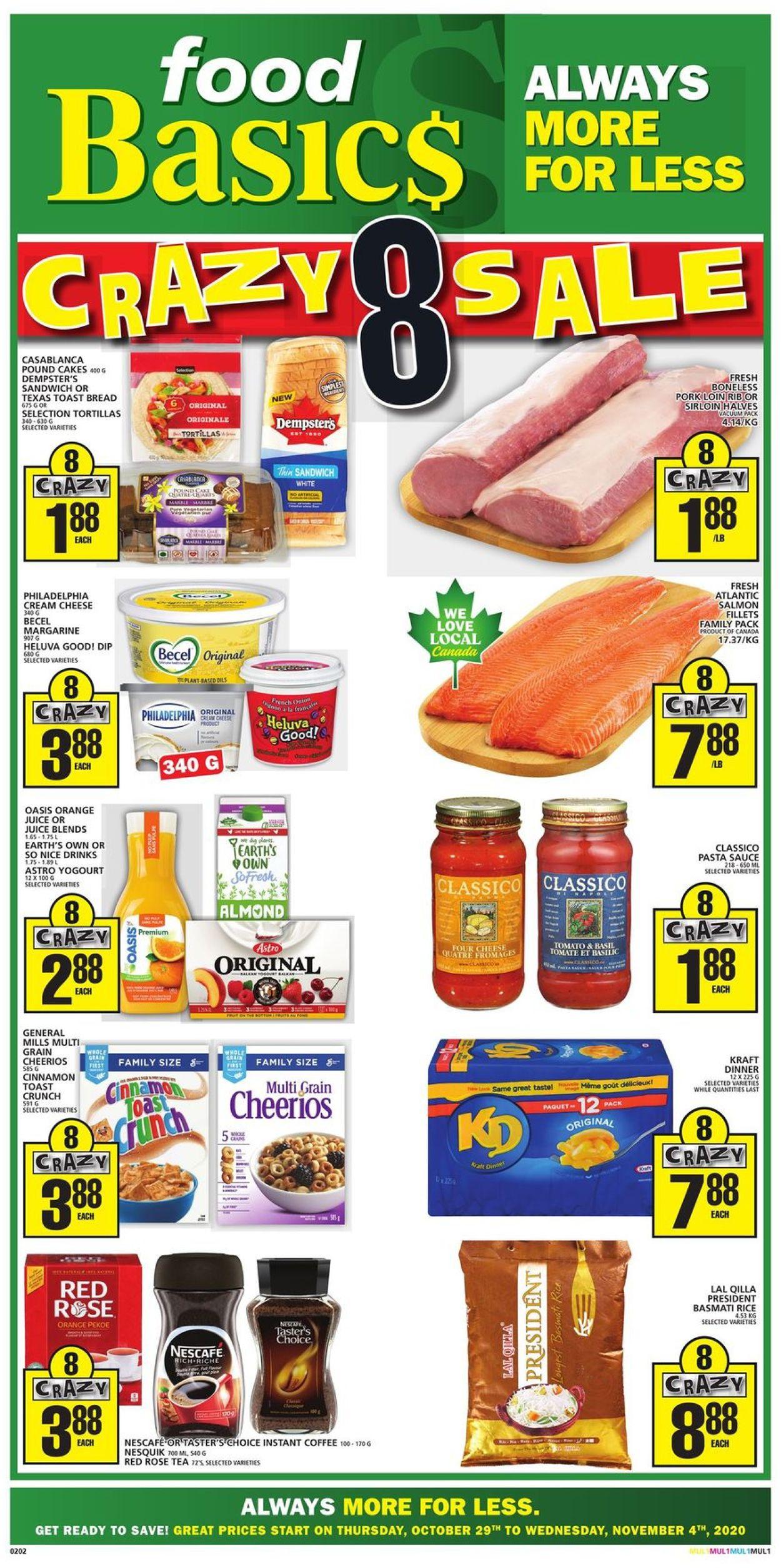 Food Basics Flyer - 10/29-11/04/2020