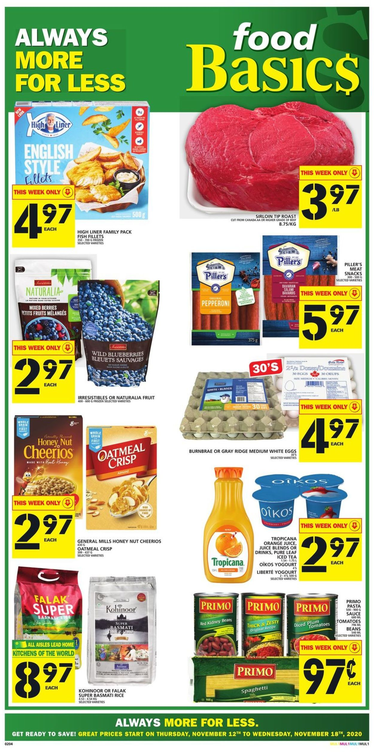 Food Basics Flyer - 11/12-11/18/2020