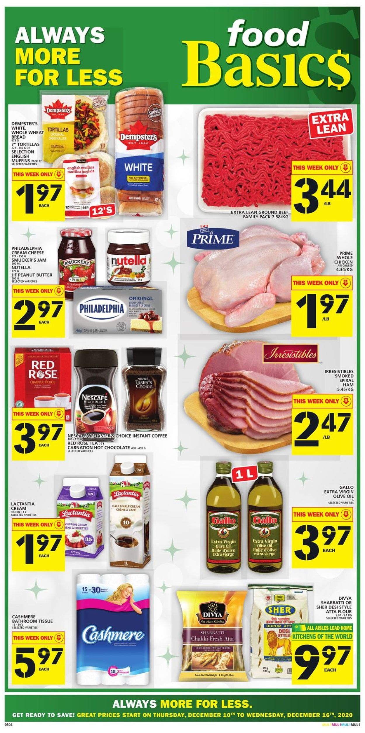 Food Basics - Christmas 2020 Flyer - 12/10-12/16/2020