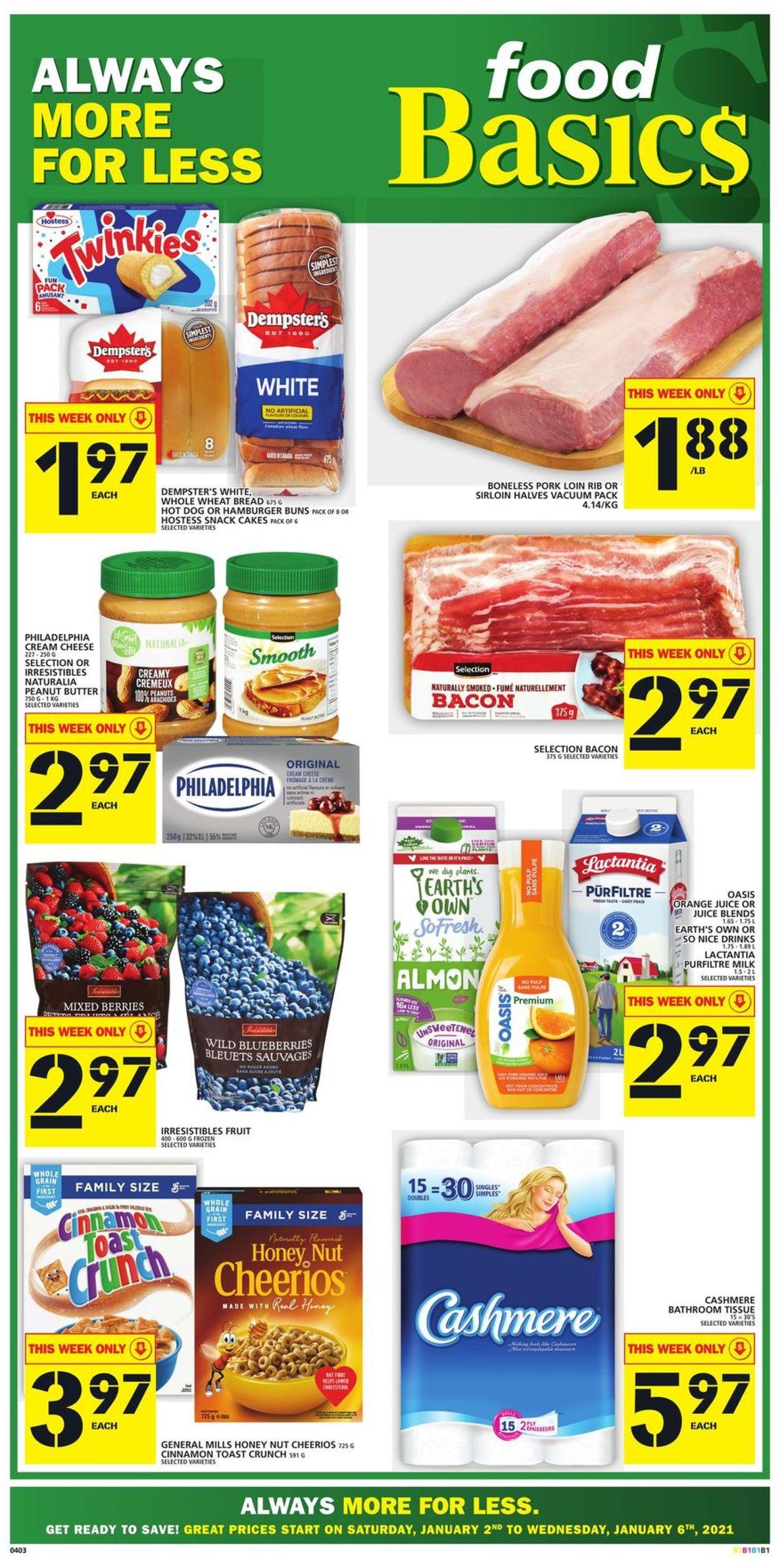 Food Basics Flyer - 01/02-01/06/2021