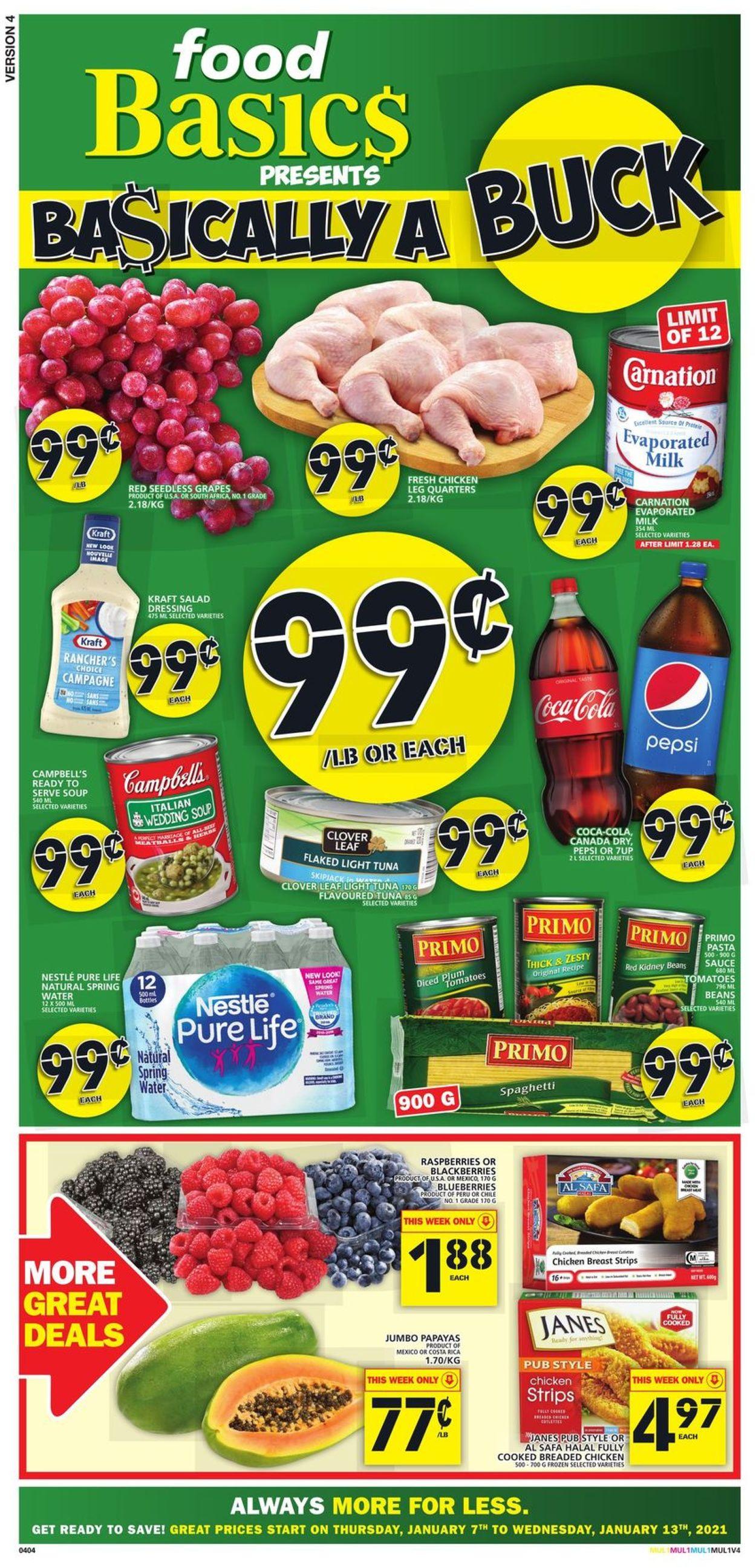Food Basics Flyer - 01/07-01/13/2021