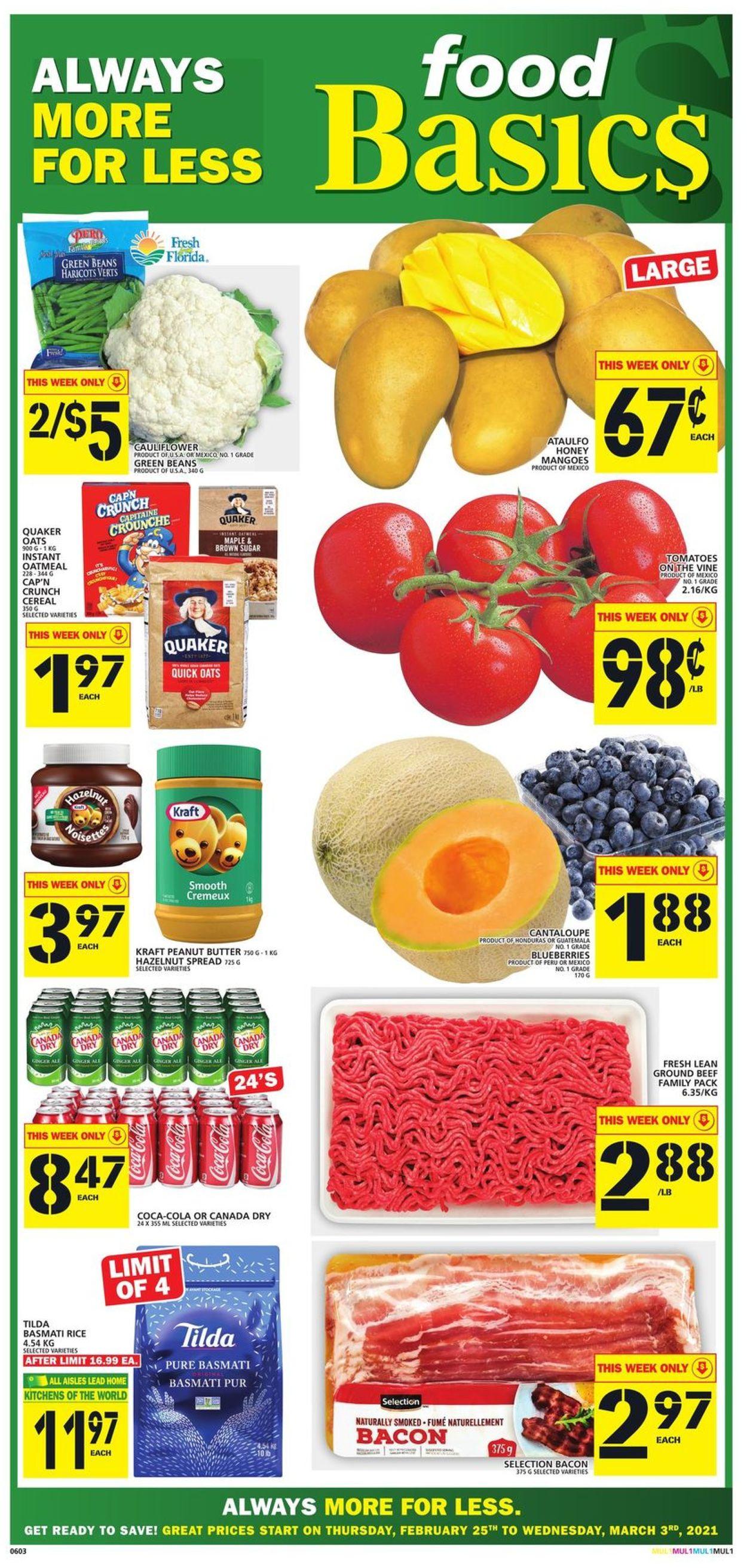 Food Basics Flyer - 02/25-03/03/2021